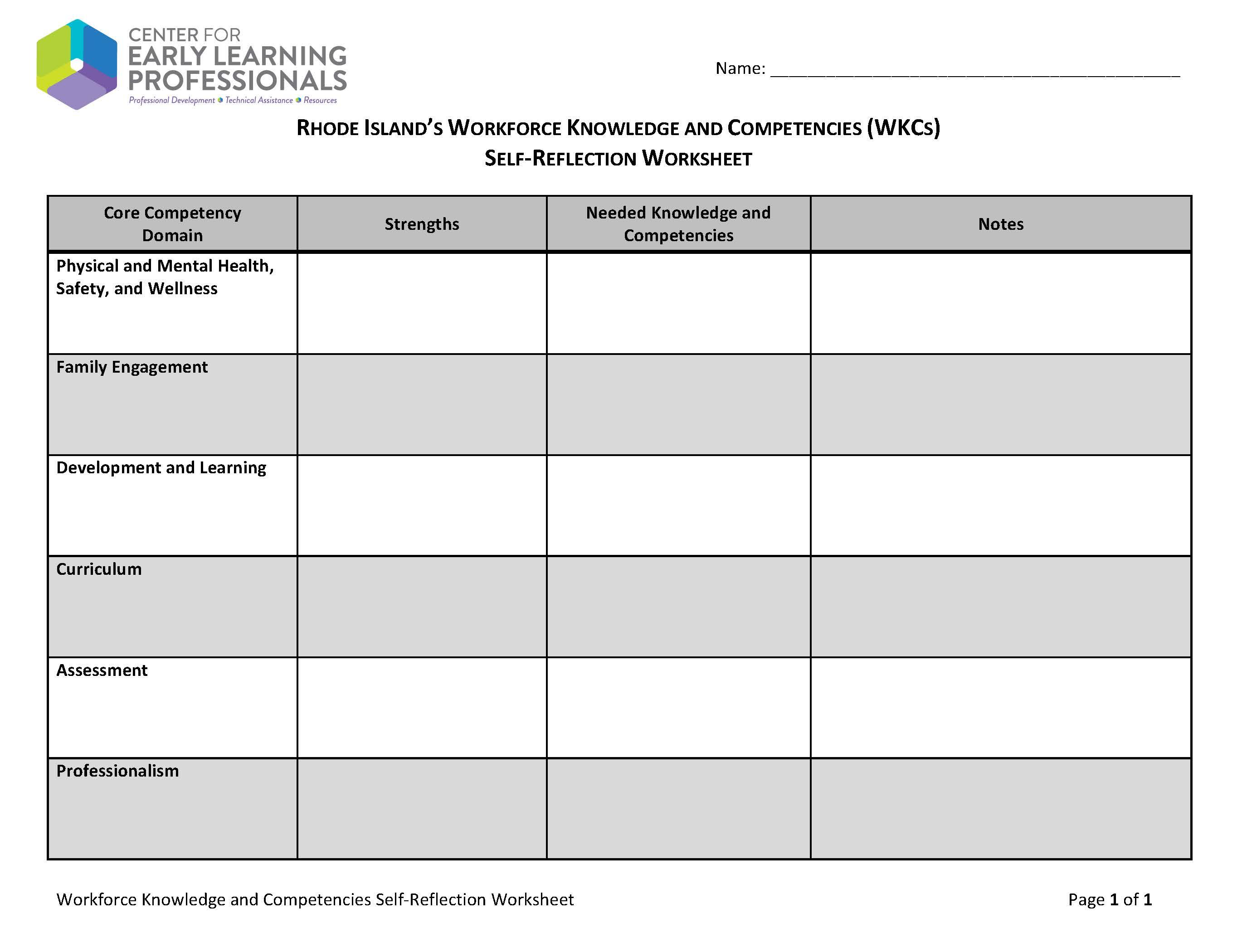 12 Best Images Of Individual Development Plan Worksheet