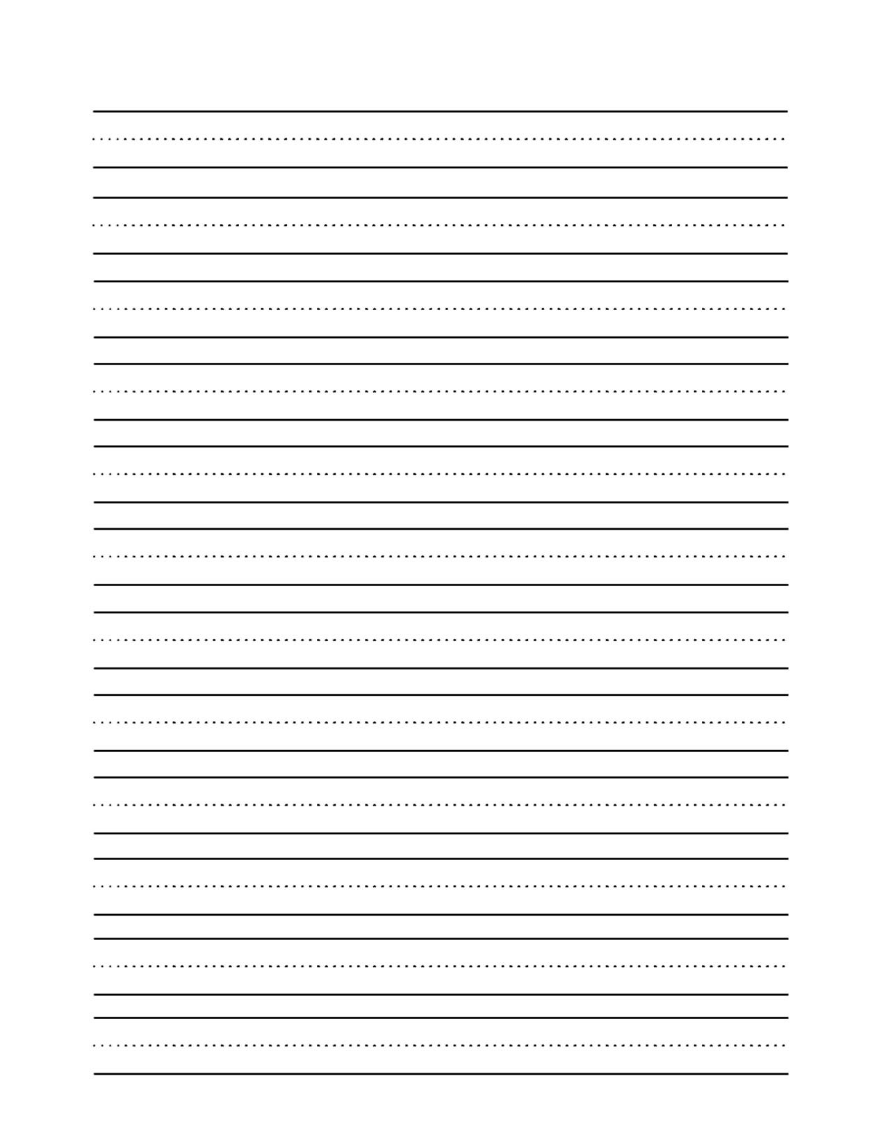 Tracing Worksheet Lined Paper