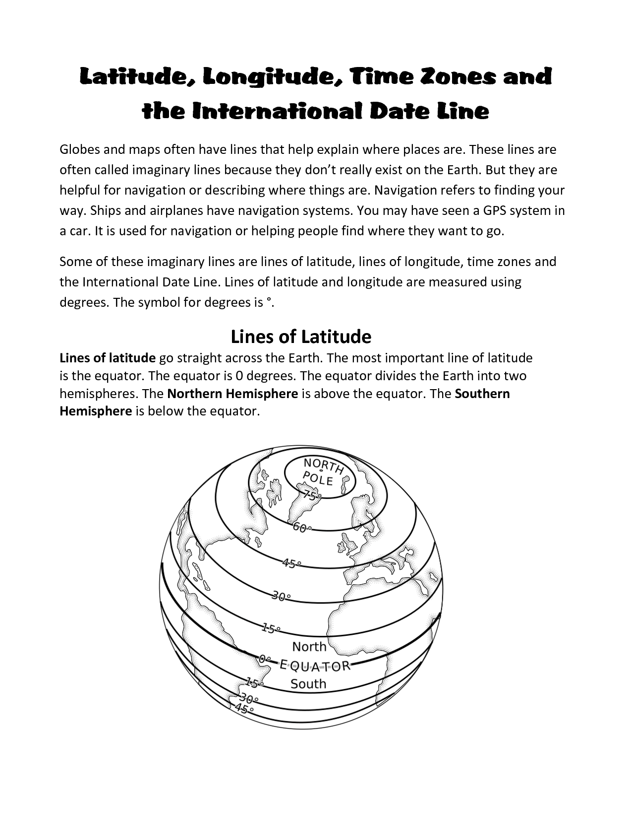 11 Best Images Of Time Zones Worksheet