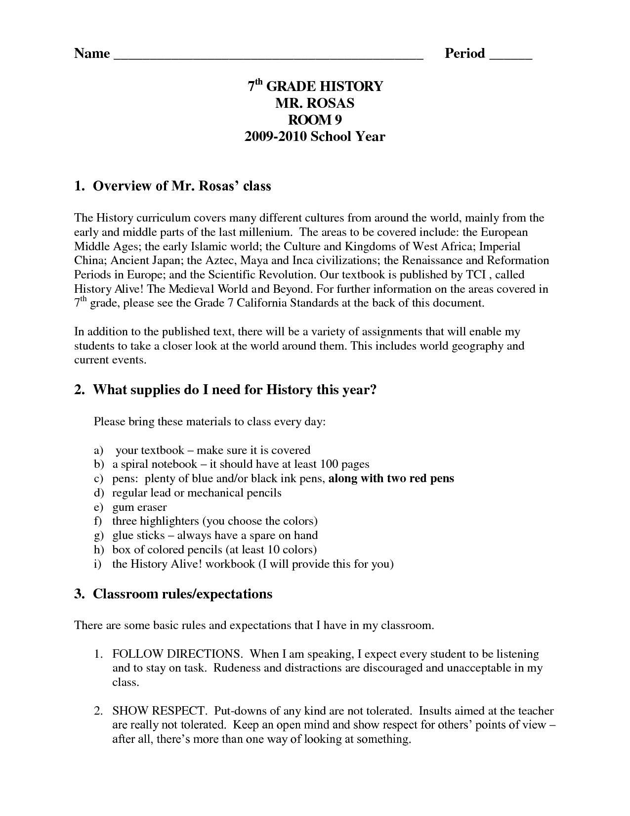 20 Best Images Of Seventh Grade History Worksheets