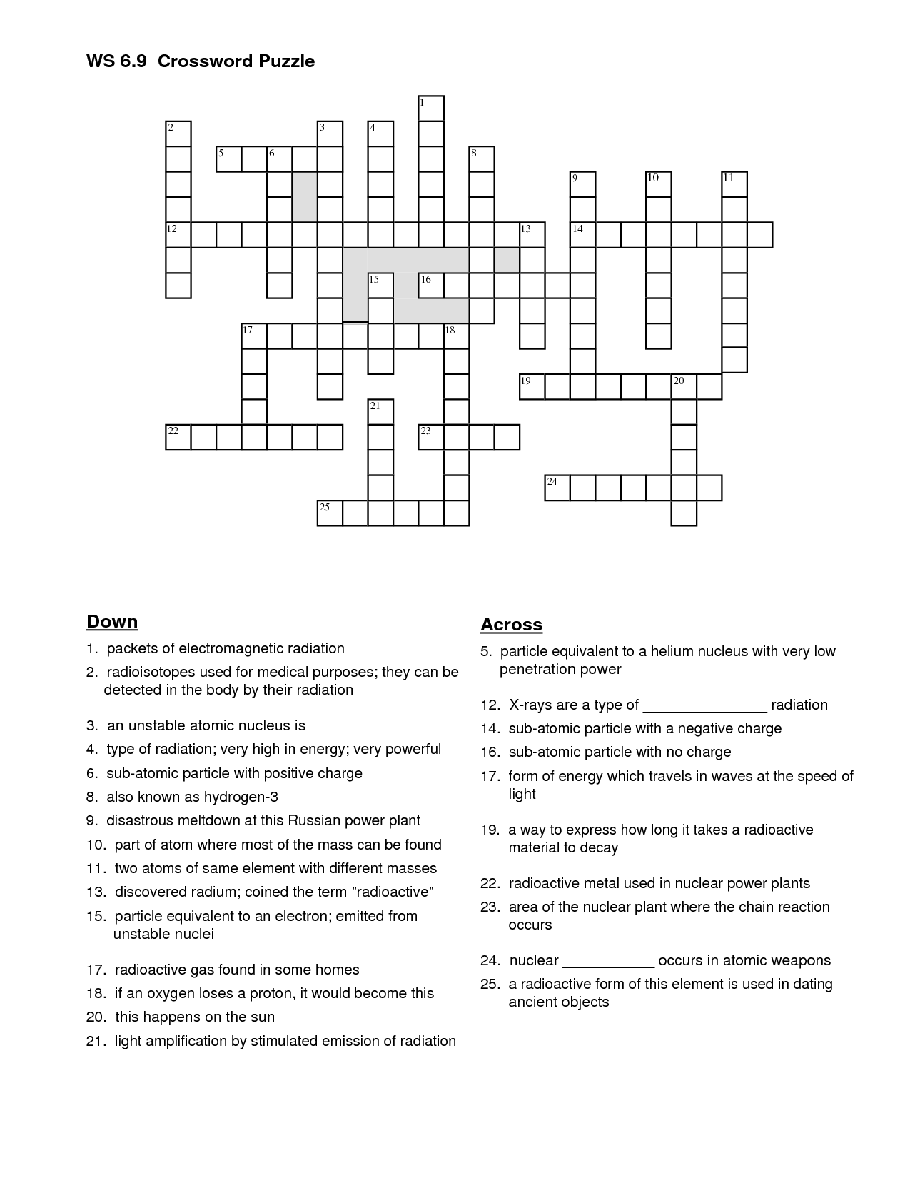12 Best Images Of Energy Worksheet Answers Crossword