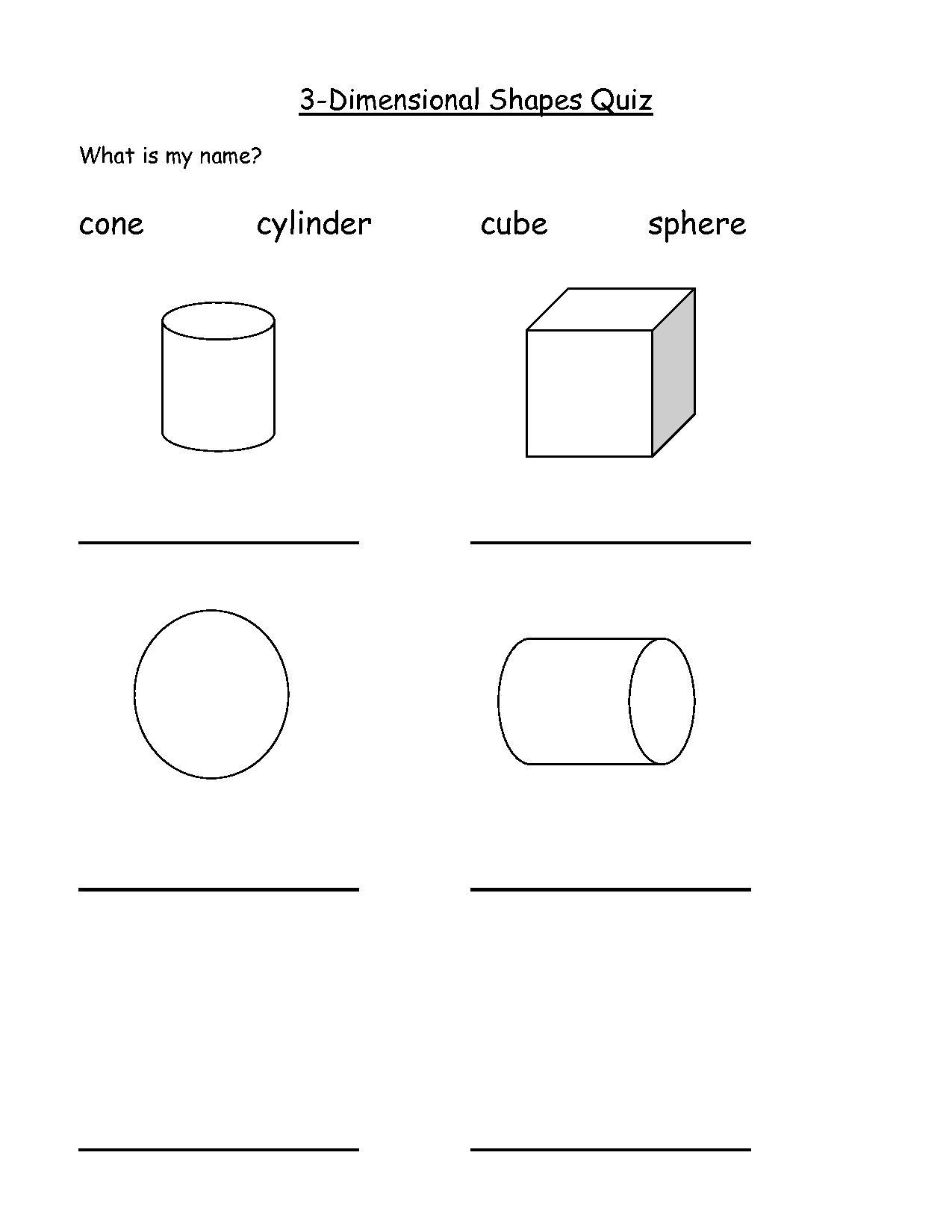 6 Best Images Of 3 Dimensional Shapes Worksheets