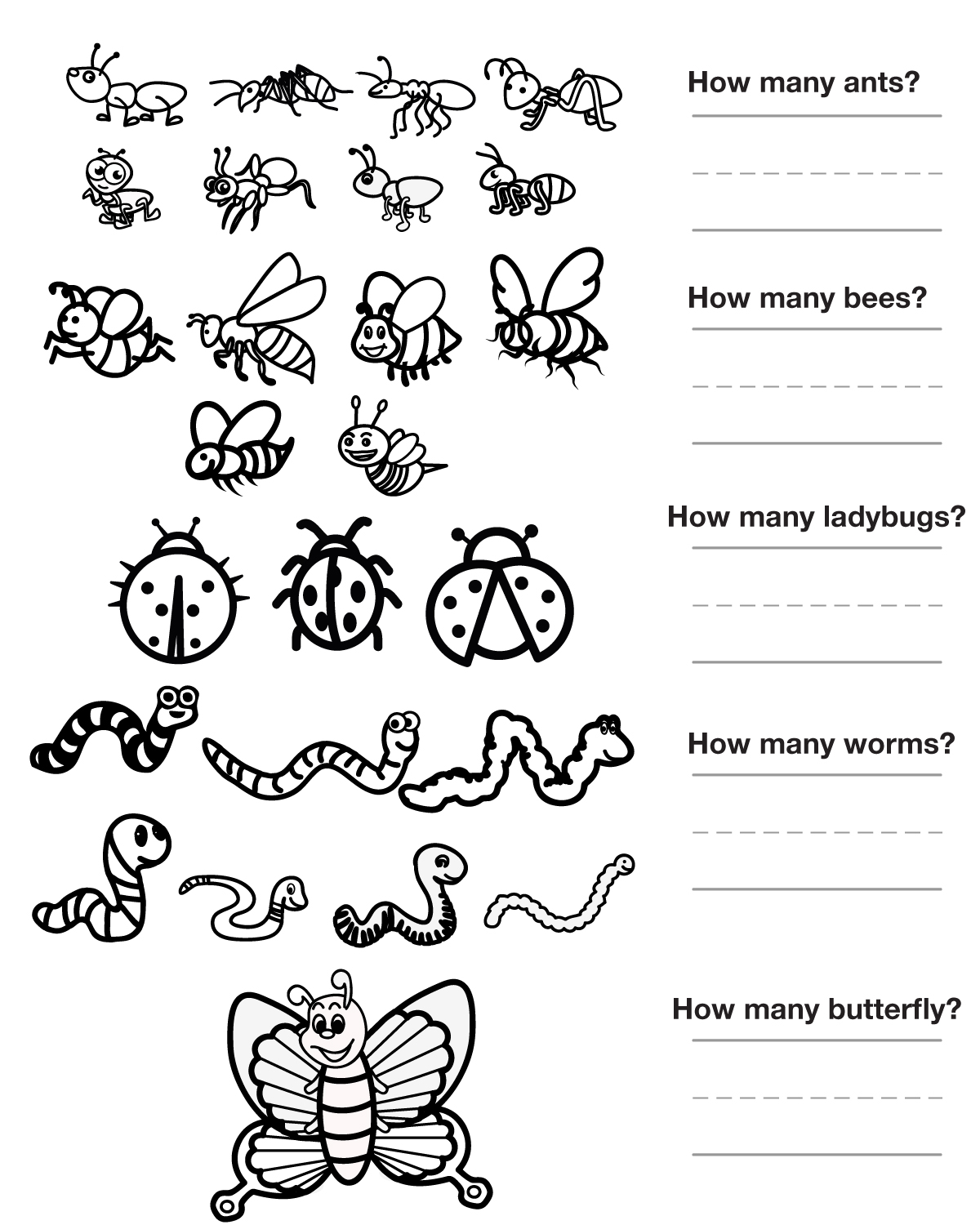 12 Best Images Of Preschool Insect Worksheets