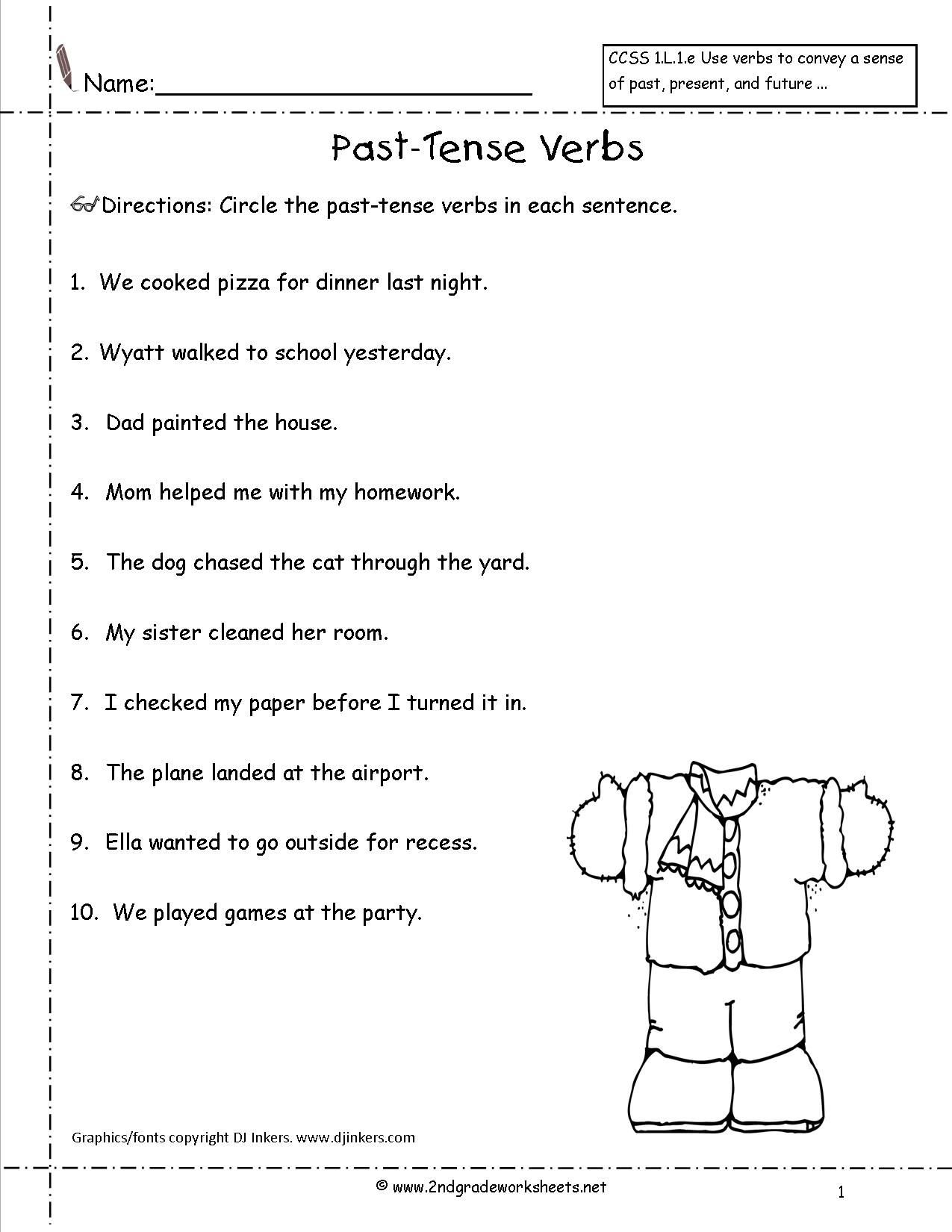 Progressive Verb Worksheets For 4th Grade