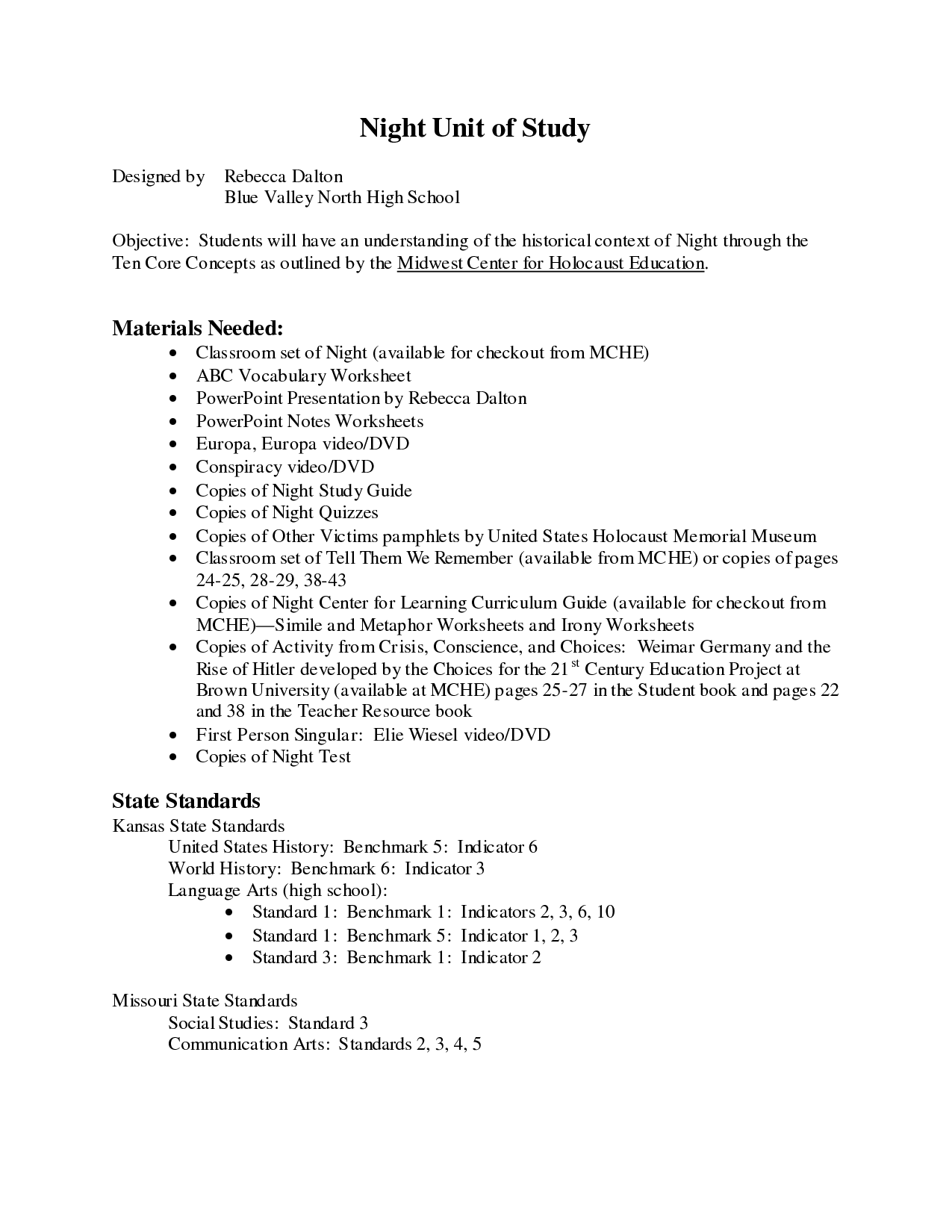 Science Assignments For High School