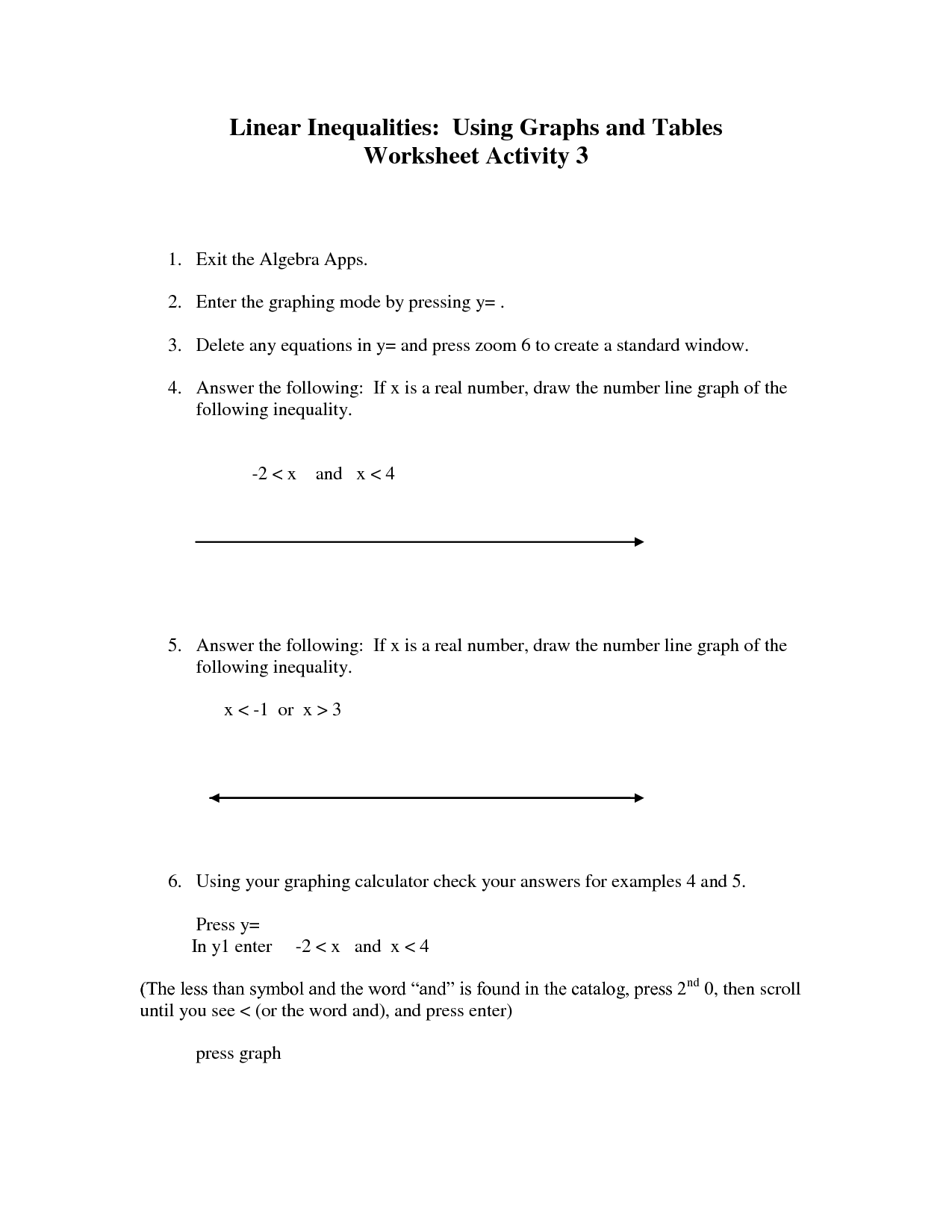 16 Best Images Of Inequality Number Line Worksheet