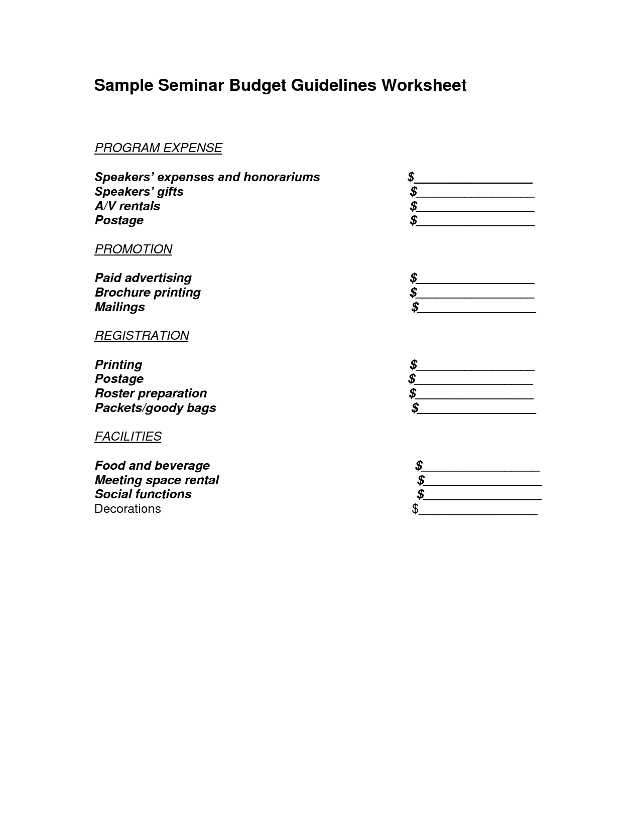 14 Best Images Of Personal Budget Plan Worksheet