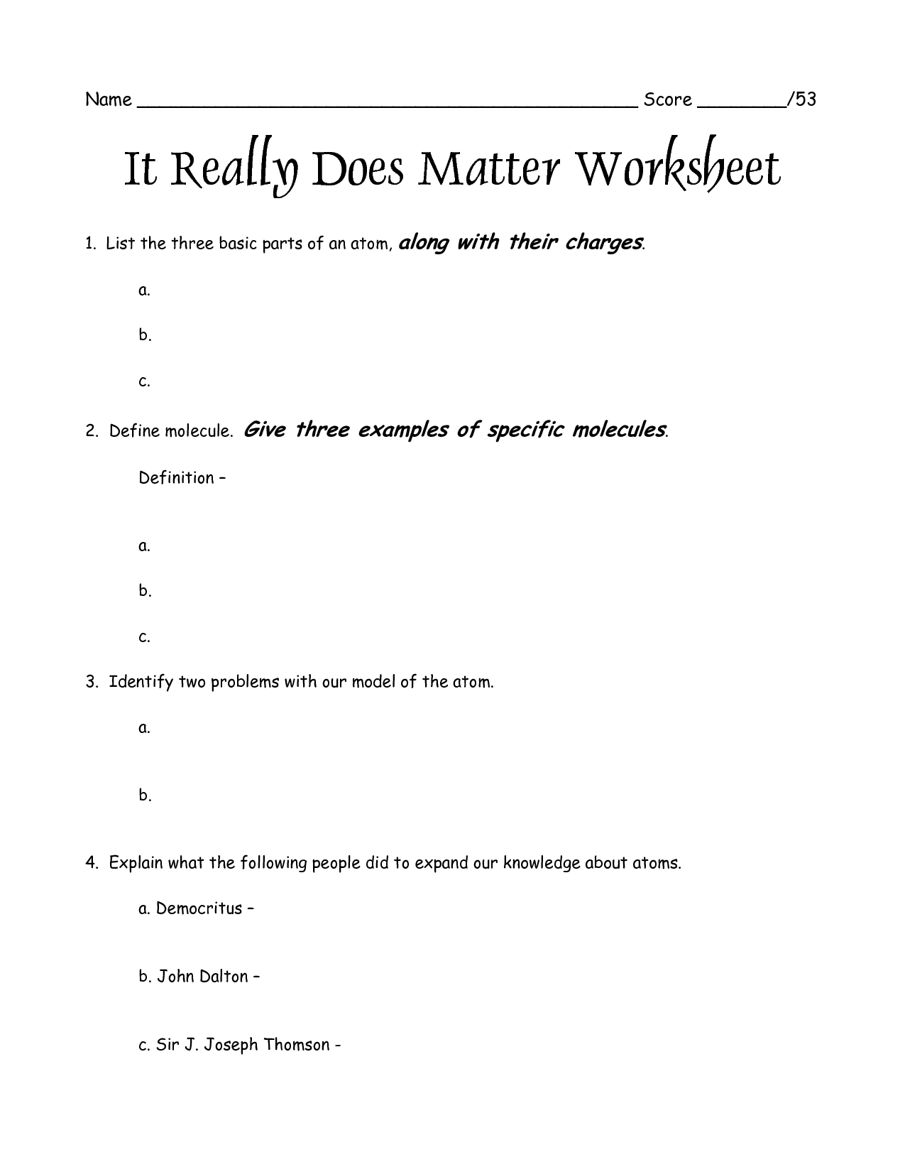 17 Best Images Of Atoms Worksheet For 8th Grade