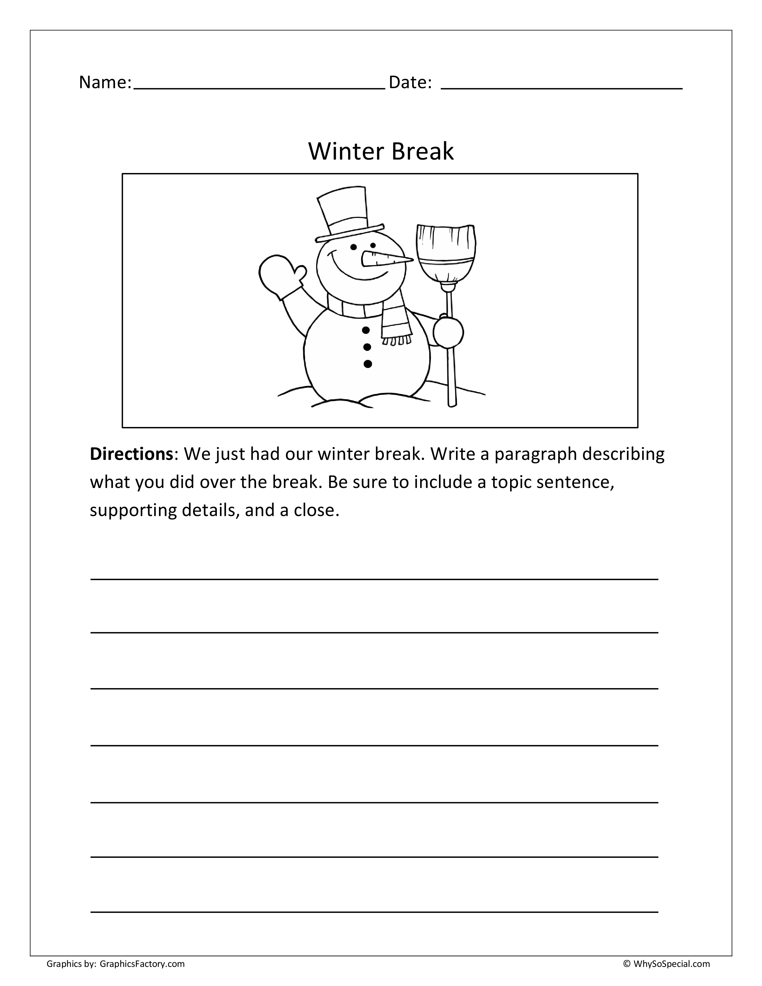 12 Best Images Of Business Letter Writing Prompt Worksheet