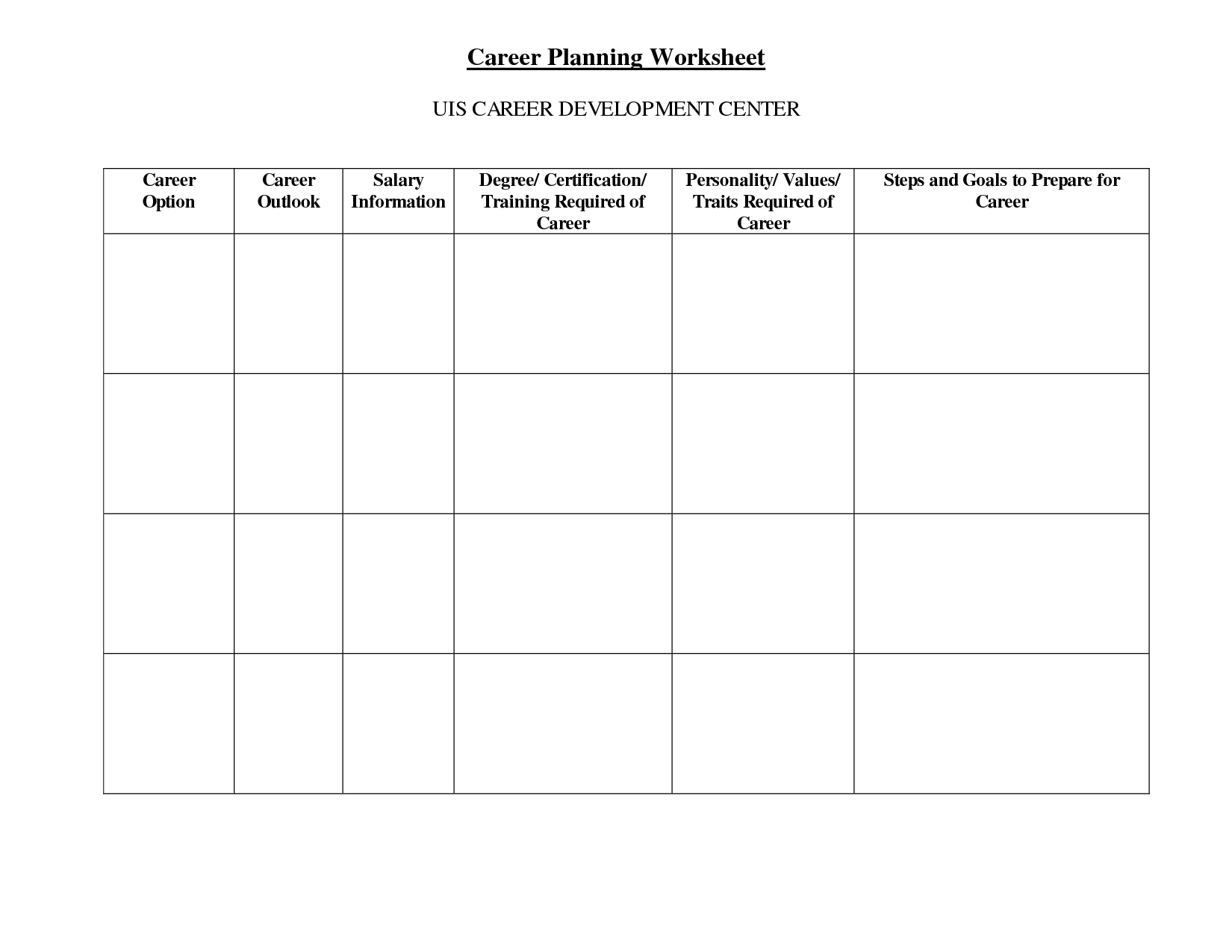 11 Best Images Of Academic Planning Worksheet