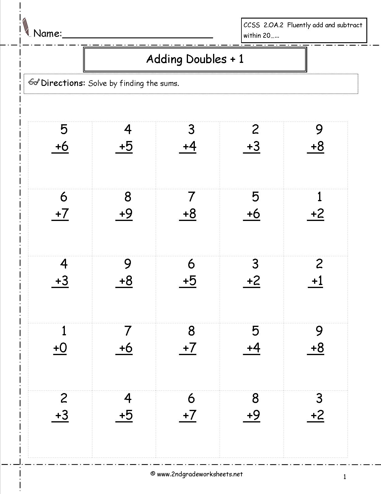 14 Best Images Of Addition Facts Worksheets
