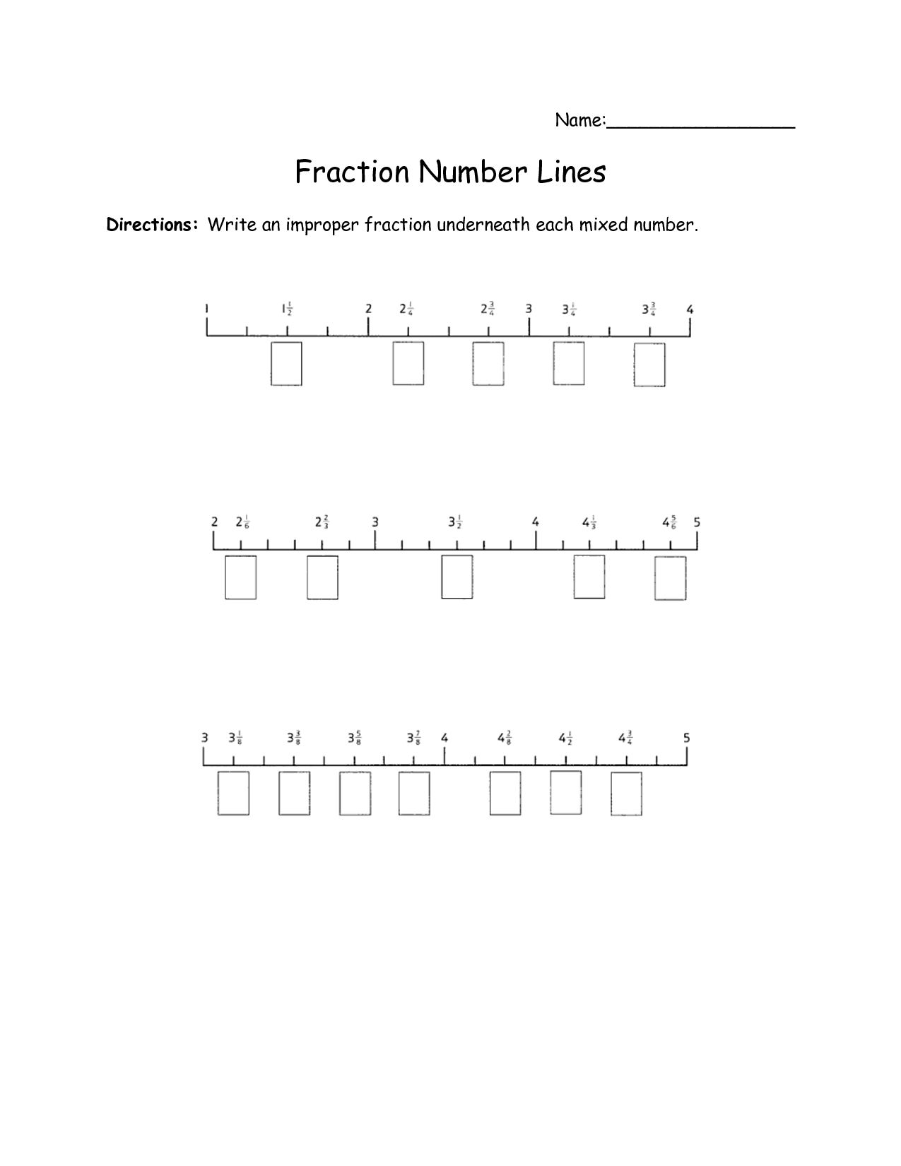 Ordering Fractions Worksheet
