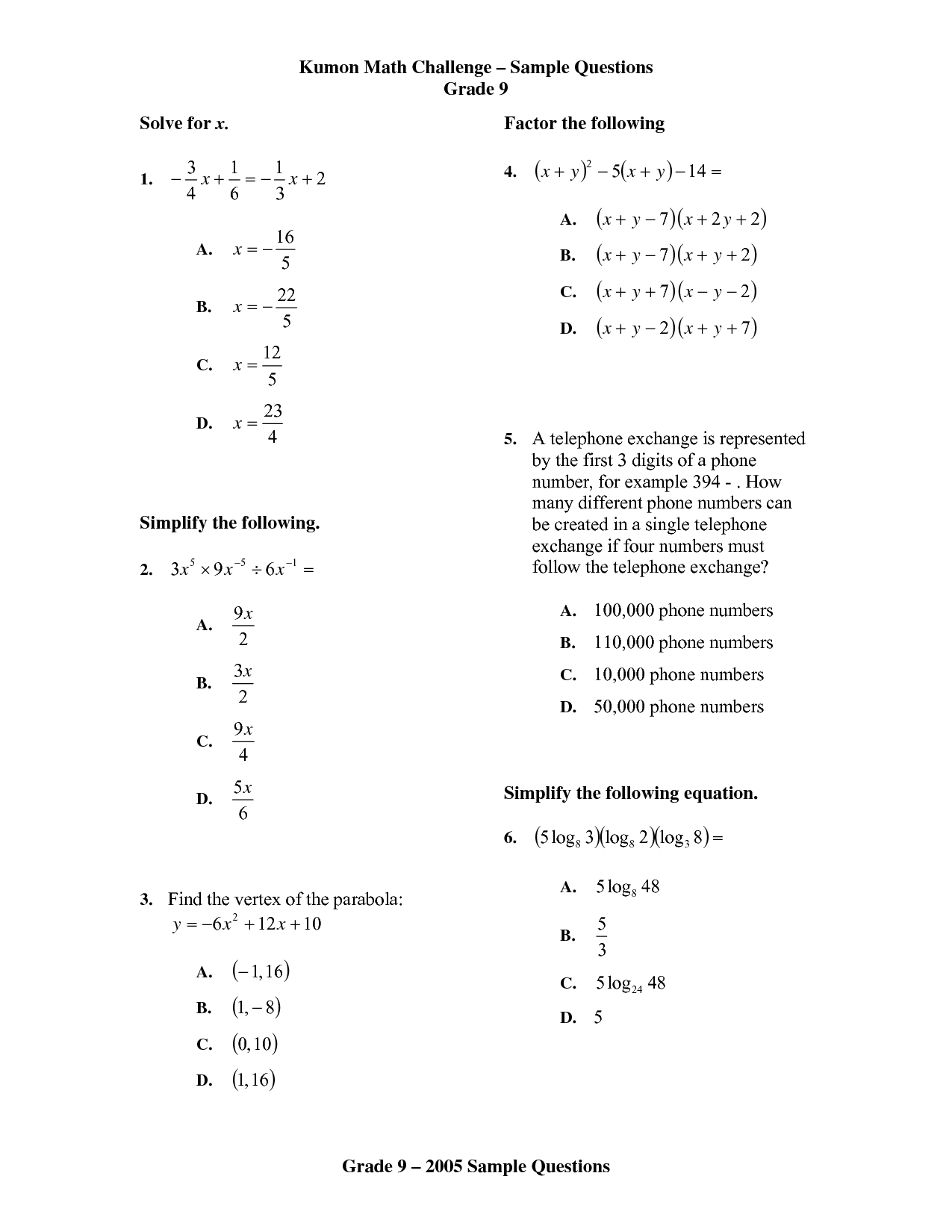 Kumon Worksheet Download English