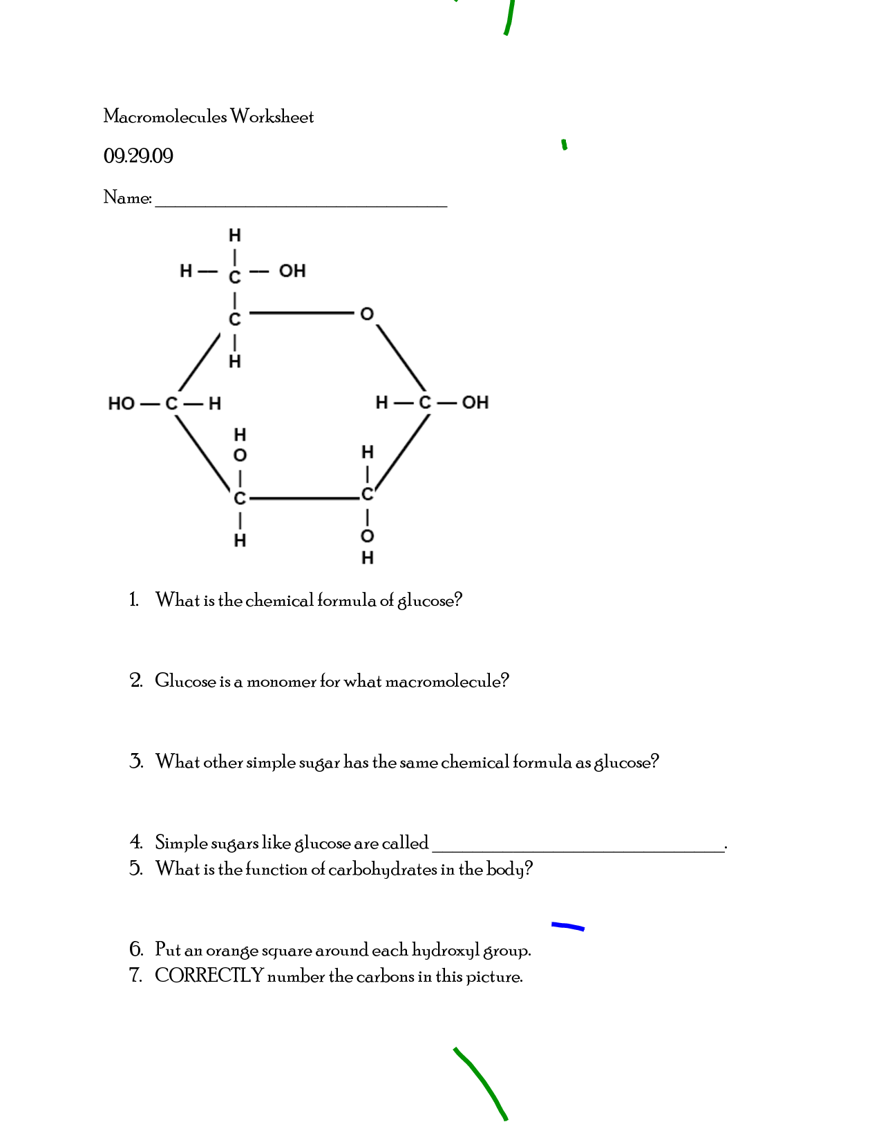 14 Best Images Of Macromolecules Review Worksheet Answer Key