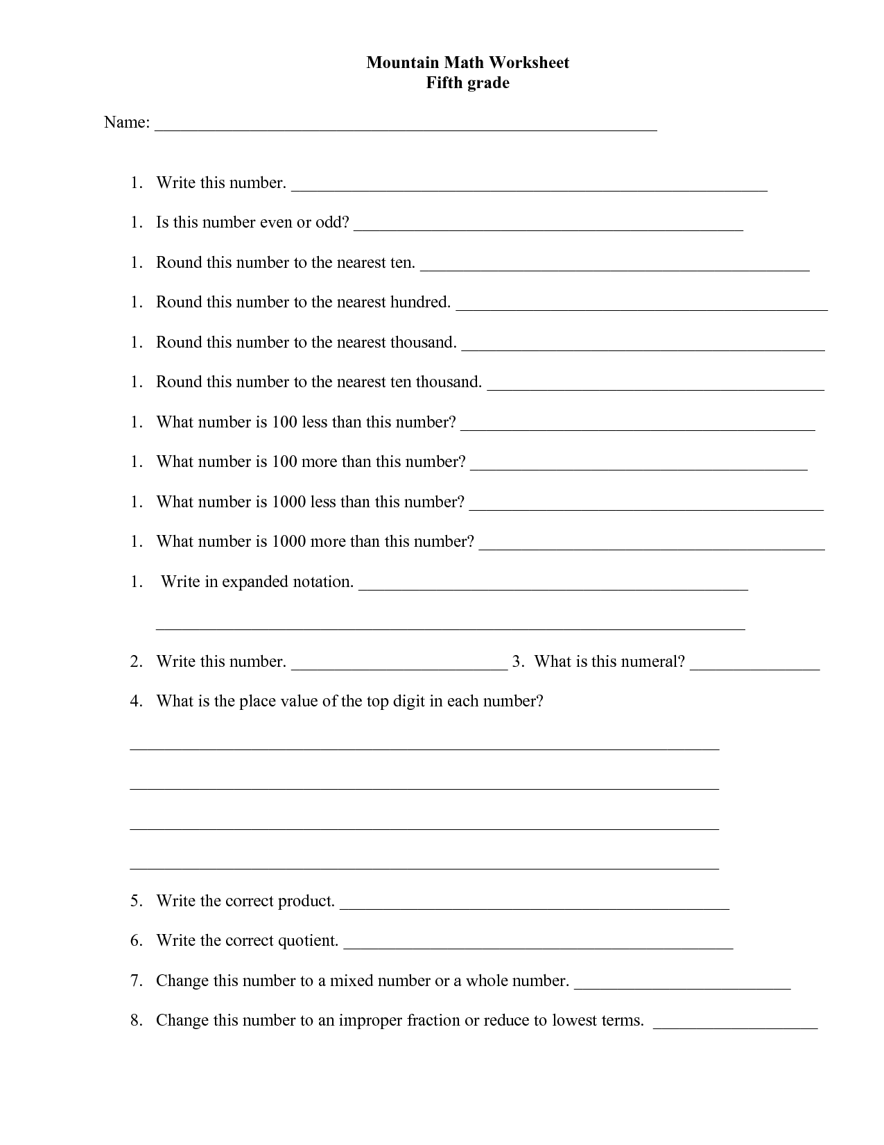2nd Grade Worksheet Category Page 8
