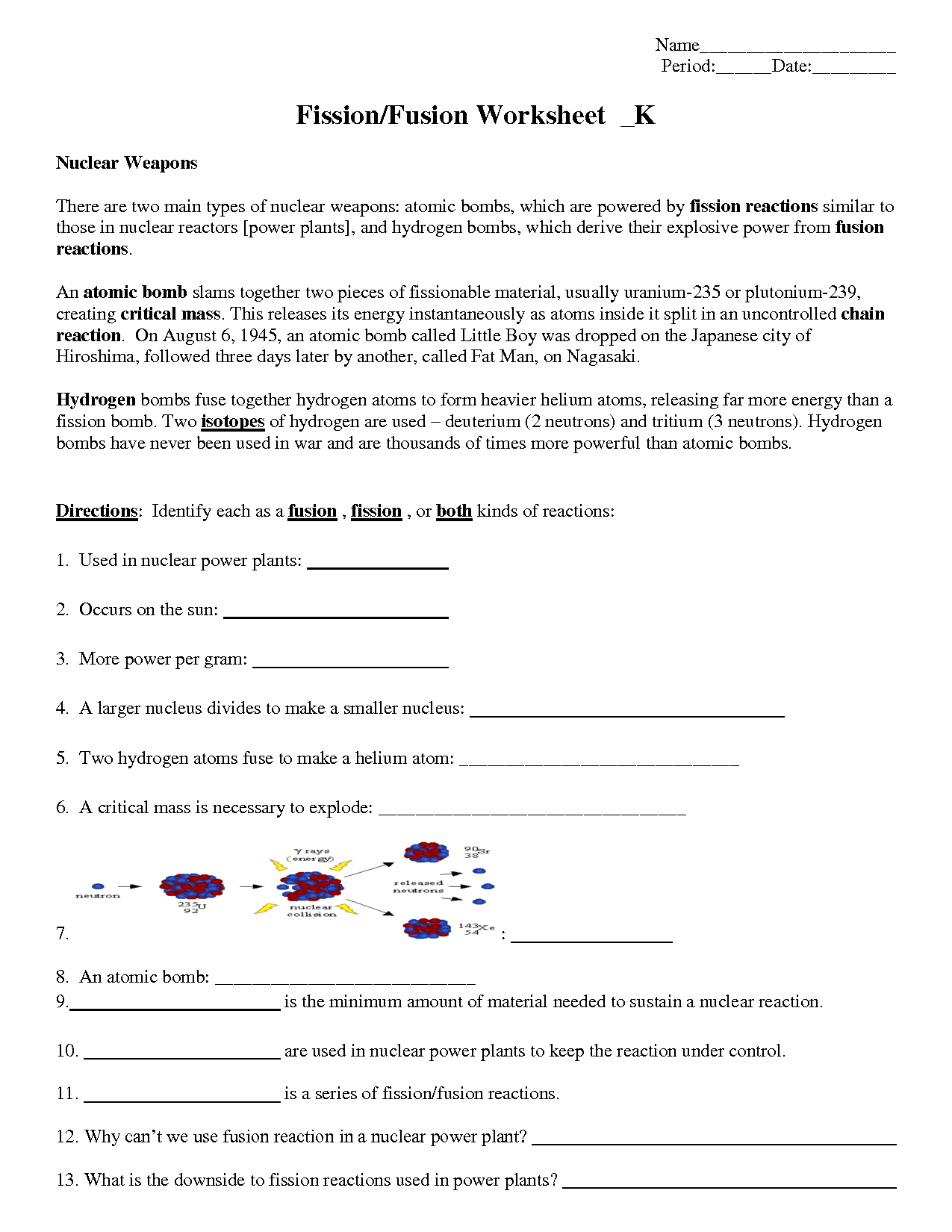 33 Nuclear Decay Worksheet Answers Chemistry
