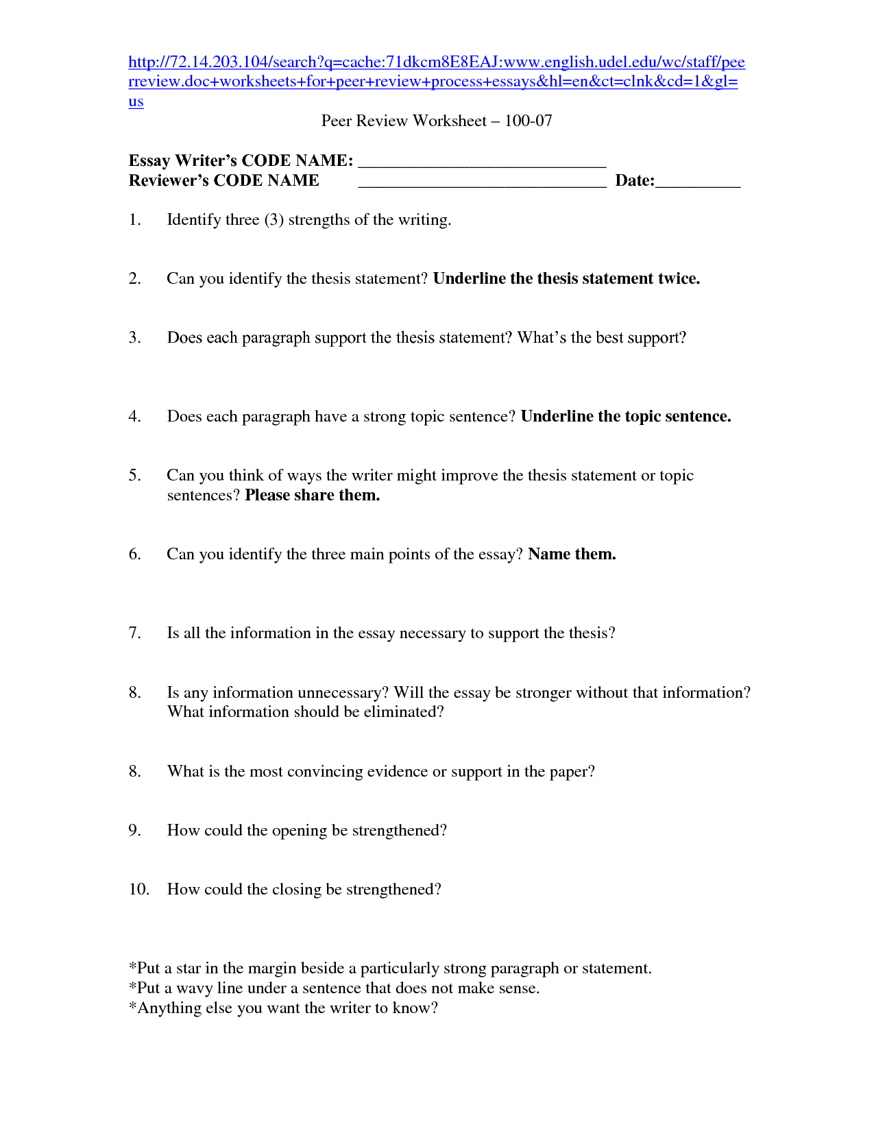 16 Best Images Of Strong Thesis Statement Worksheet