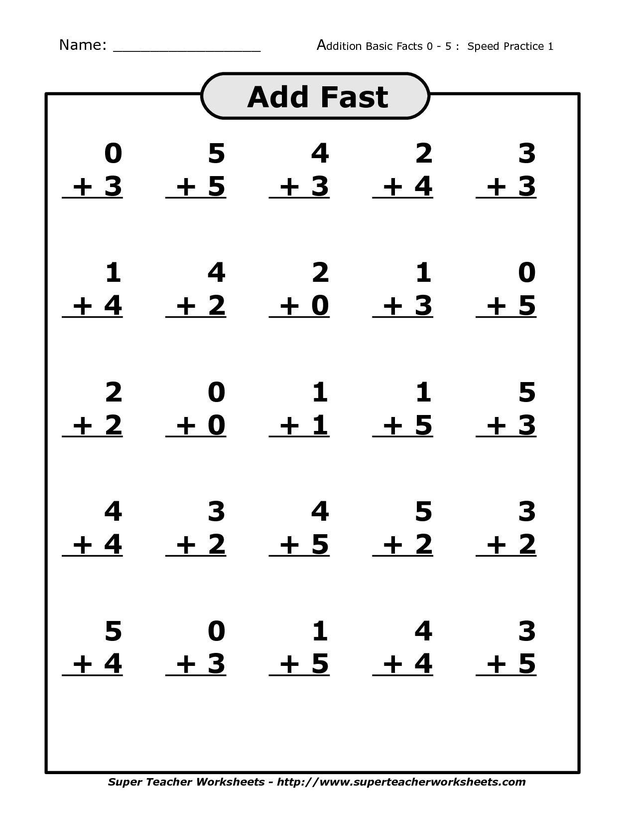 Doubles Plus 1 Addition Worksheet