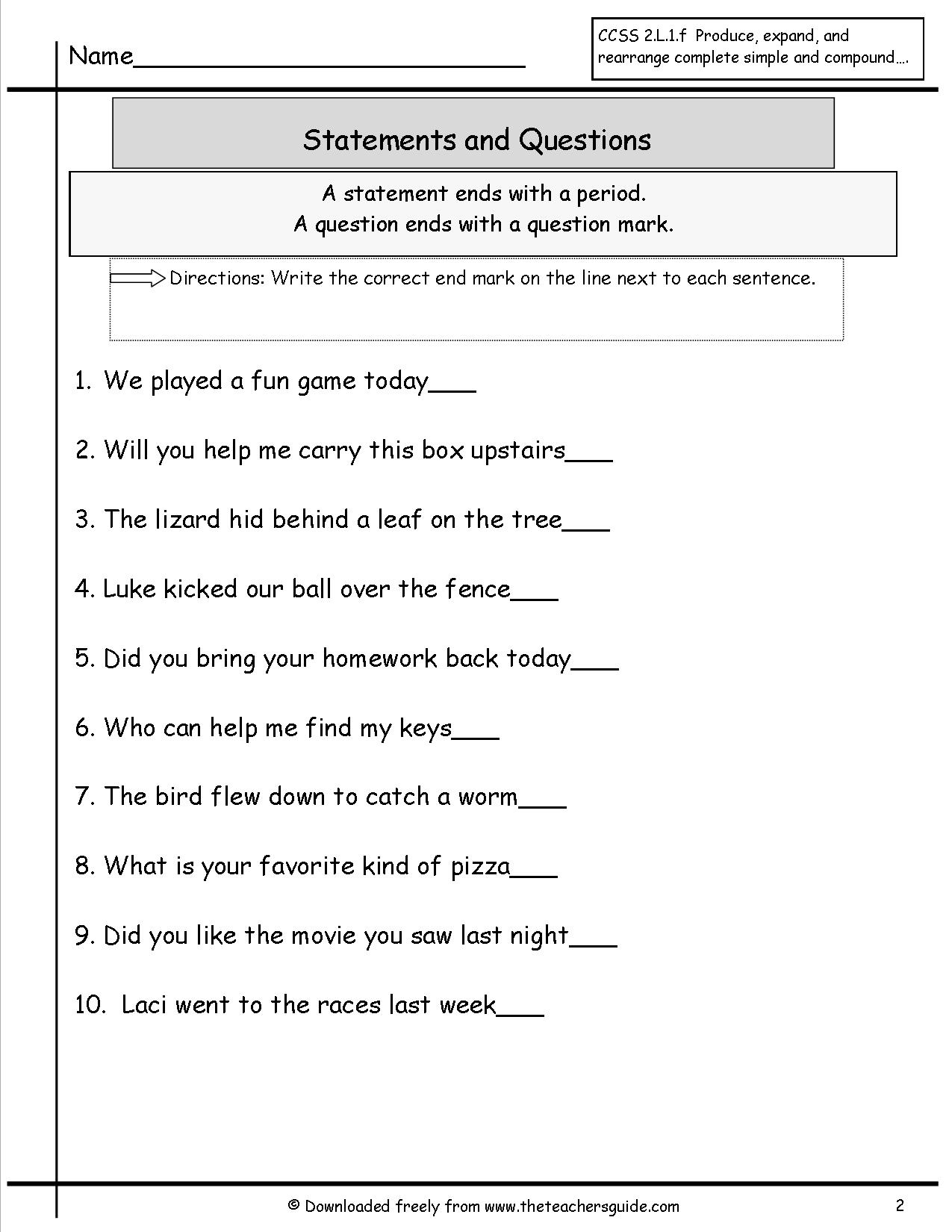 16 Best Images Of Create A Sentence Worksheets Printable