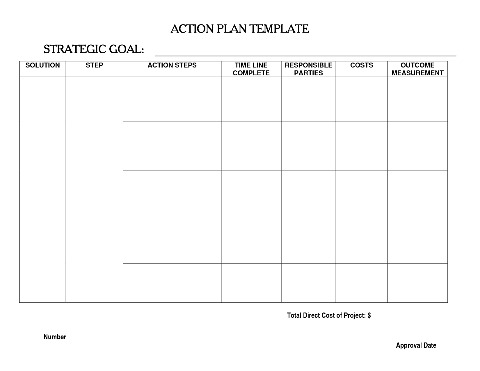 15 Best Images Of Action Plan Worksheet Template