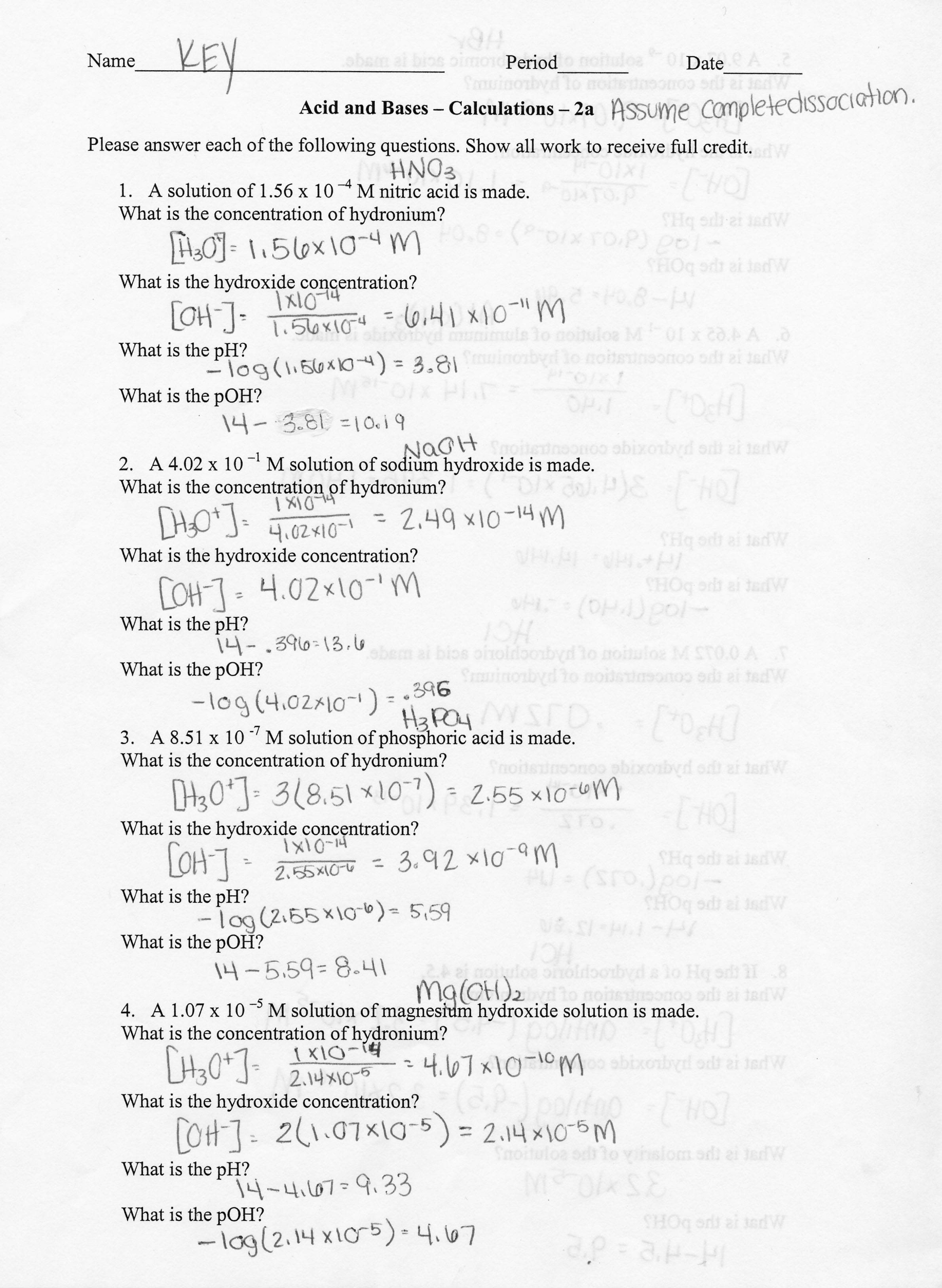 15 Best Images Of Molarity Worksheet 1 Answers