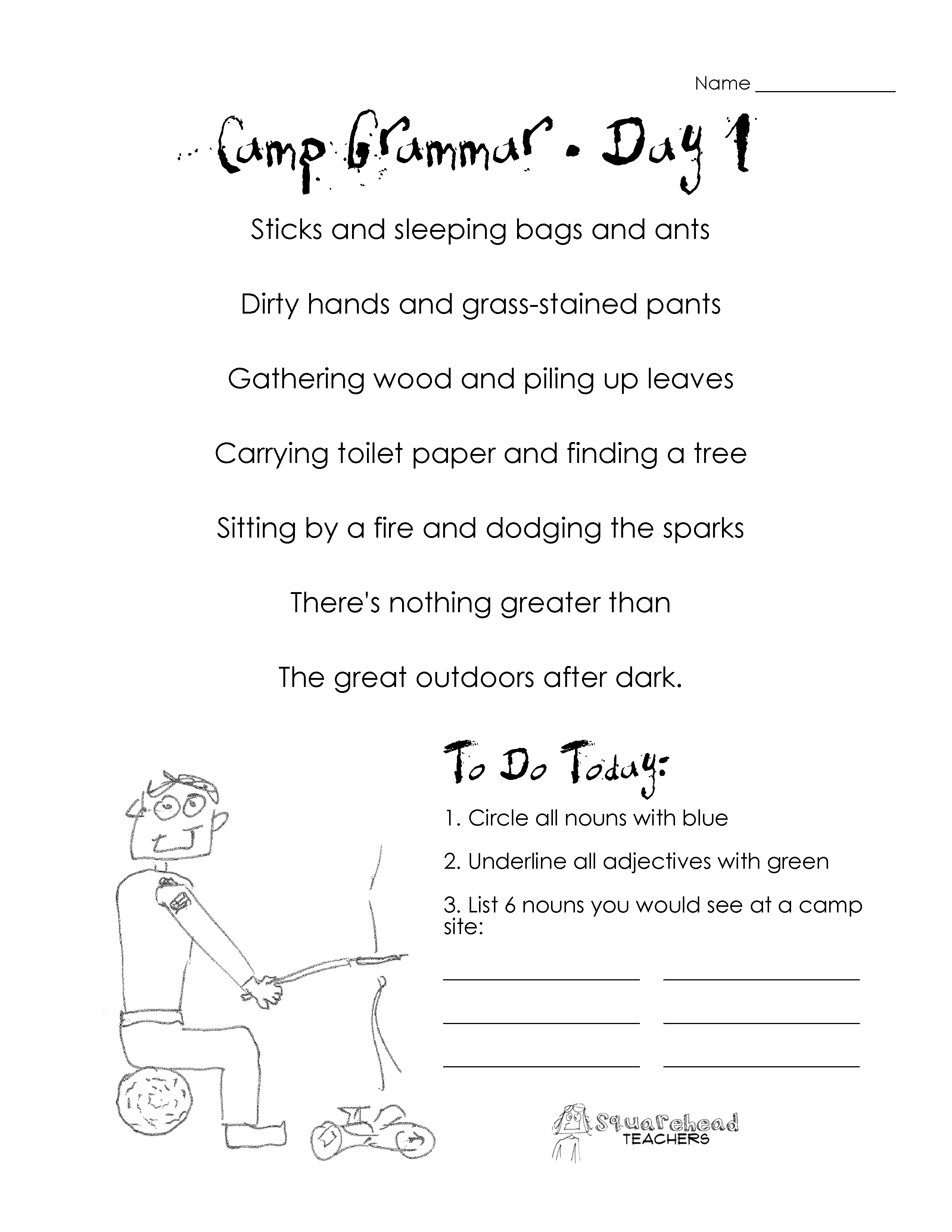 13 Best Images Of Parts Of Speech Practice Worksheets