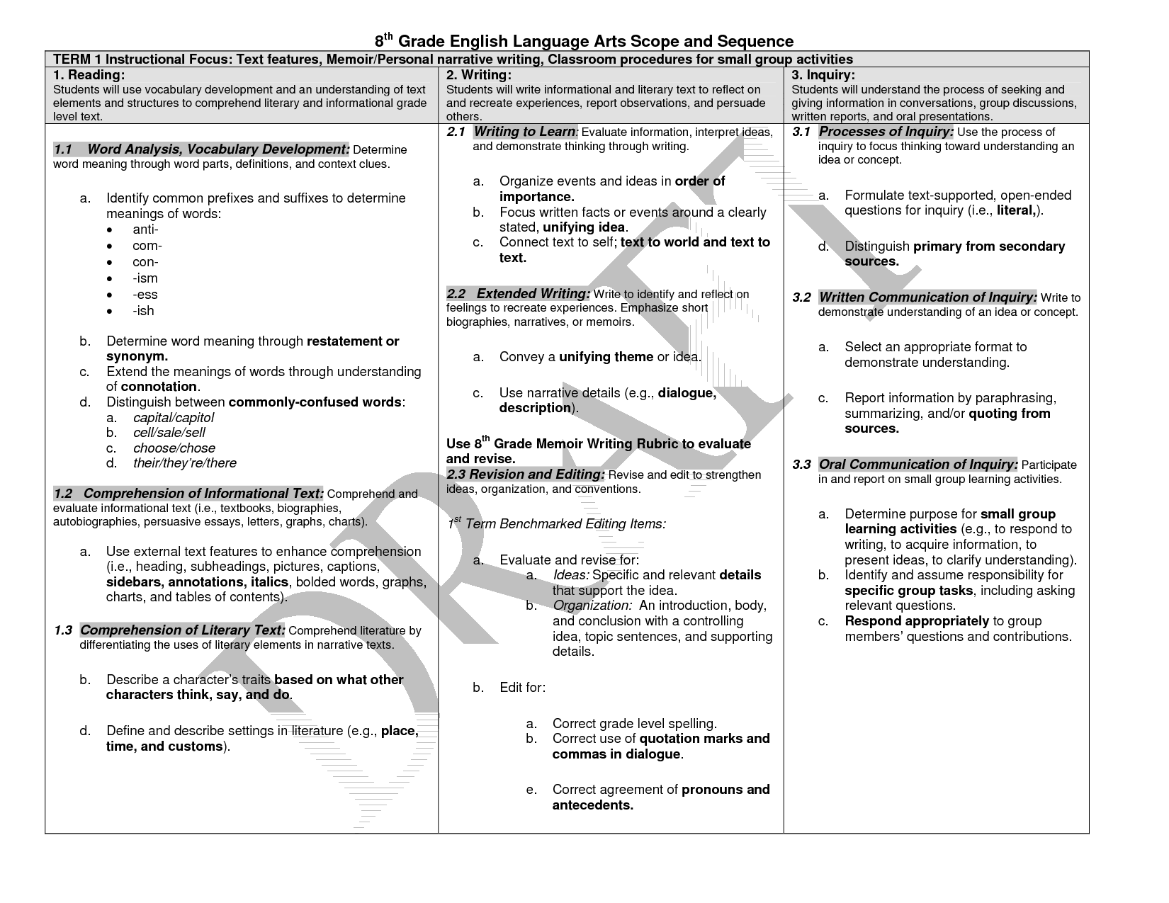 16 Best Images Of 8th Grade Language Arts Worksheets