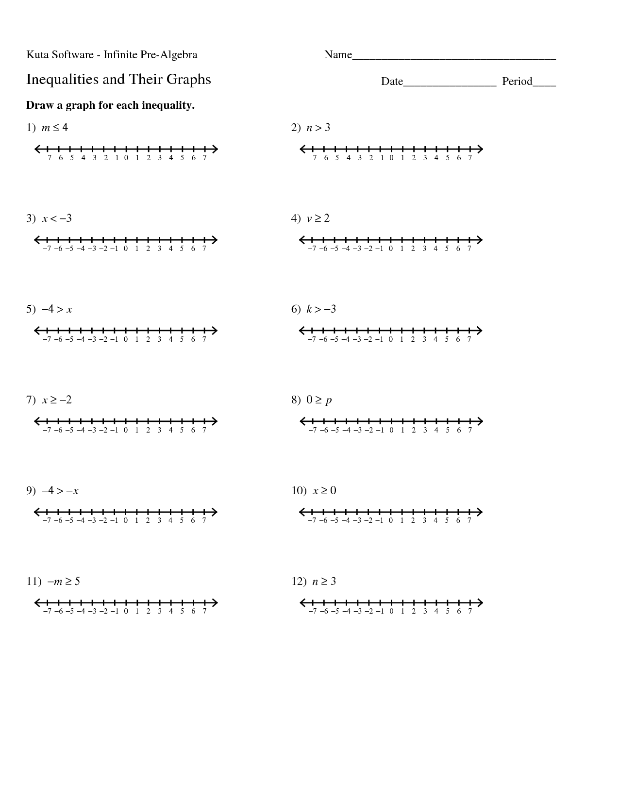 16 Best Images Of Algebra 1 Inequalities Worksheet