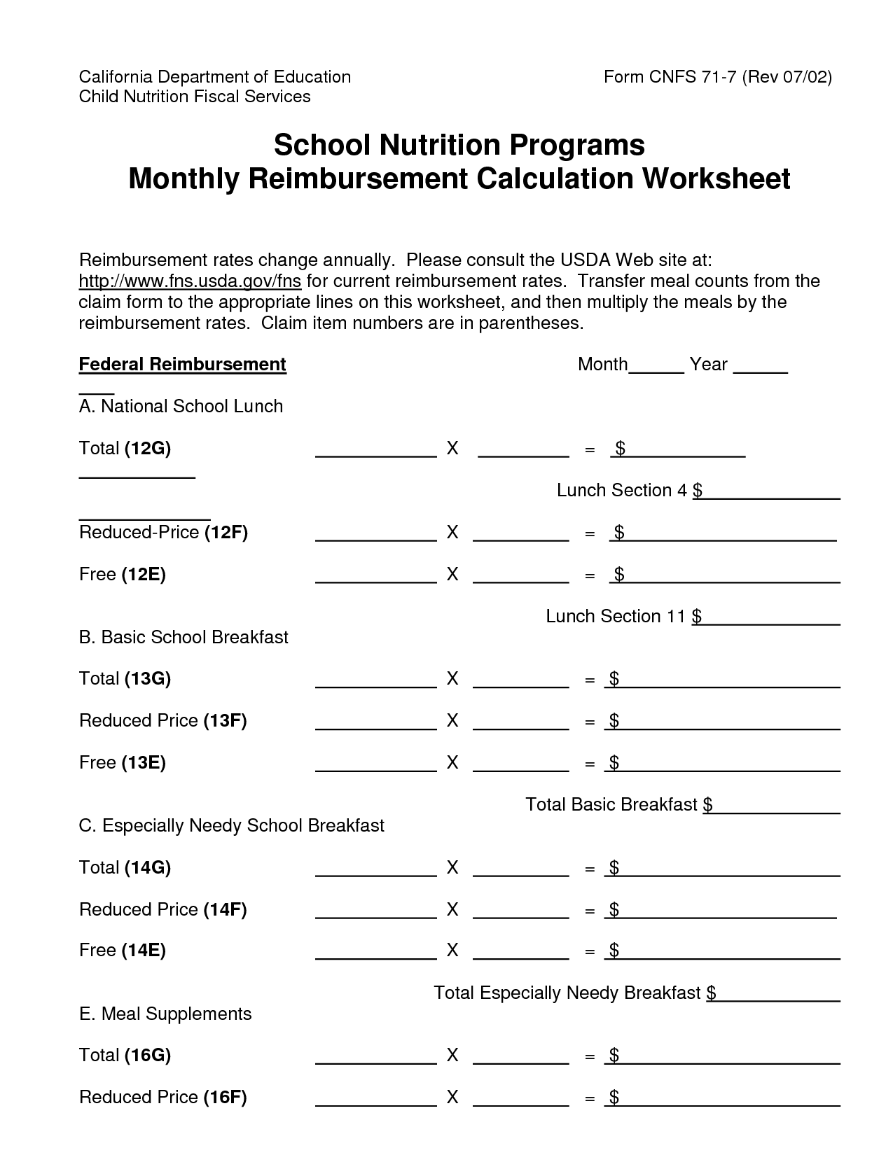 Free Printable Worksheet School