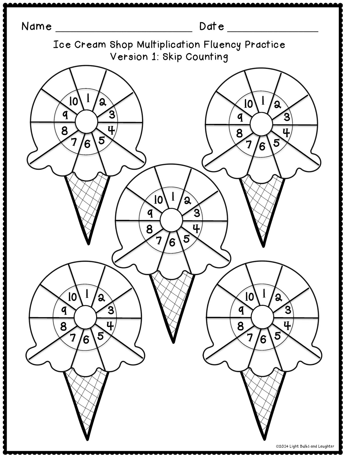 10 Best Images Of Ice Cream Activities And Worksheets
