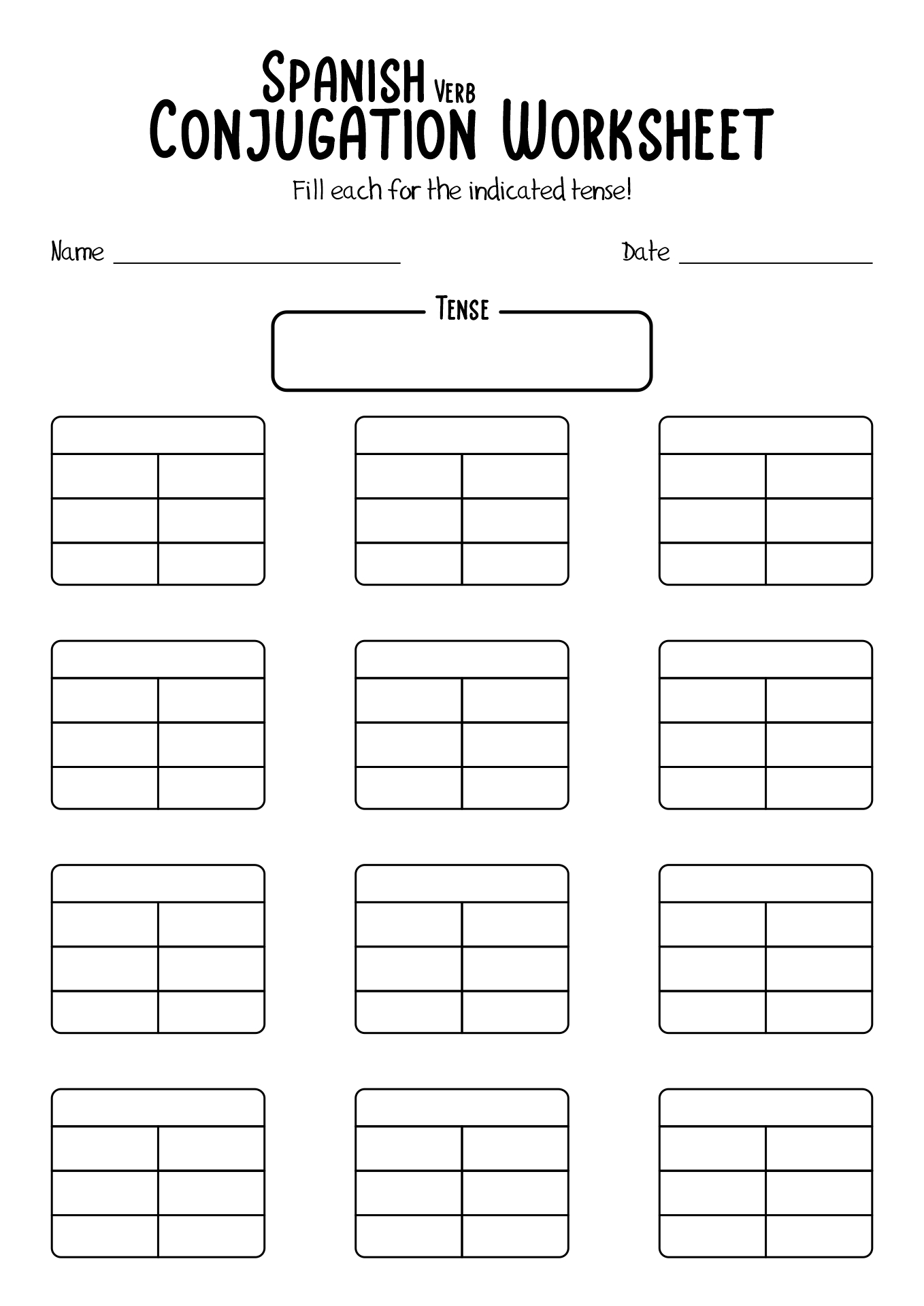 18 Best Images Of Spanish Verb Worksheets