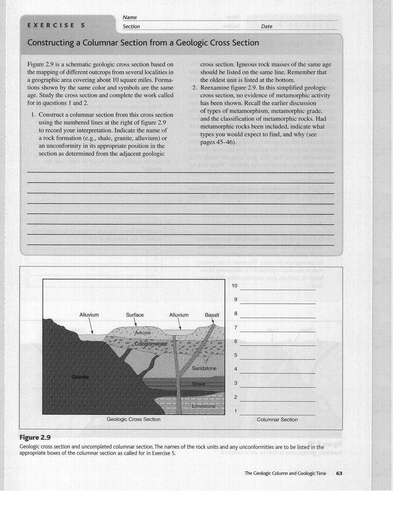 Geologic Time Worksheet Berkeley