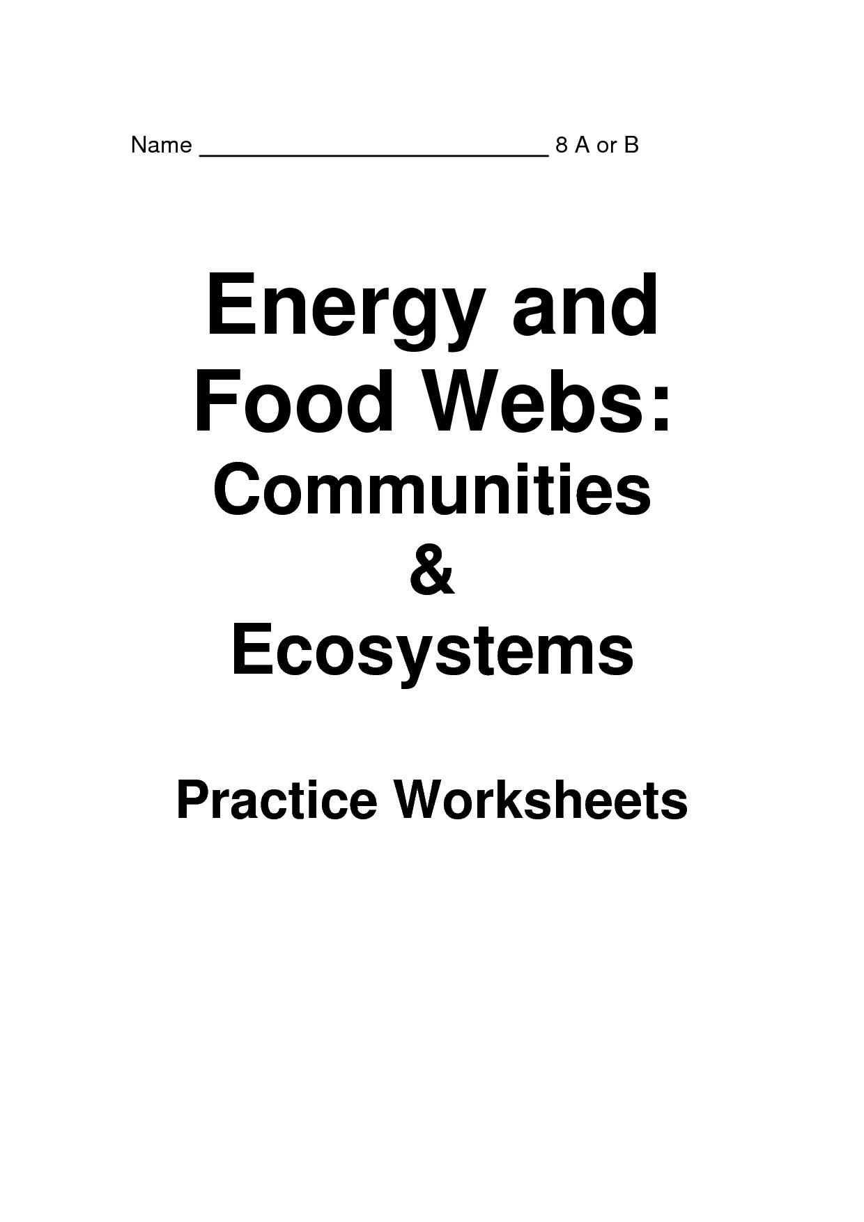 11 Best Images Of Energy Pyramid Worksheet
