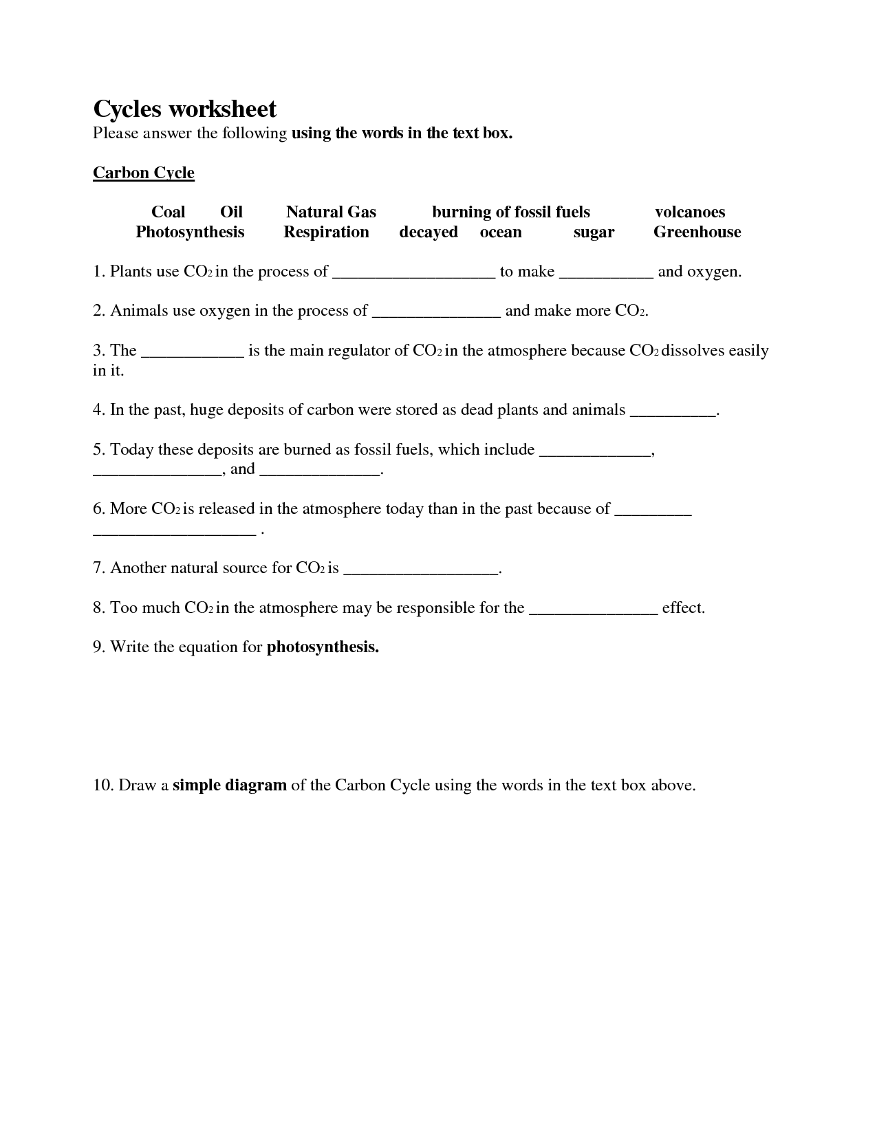 Worksheets Cycles Worksheet Answers Cheatslist Free Worksheets For Kids Amp Printable
