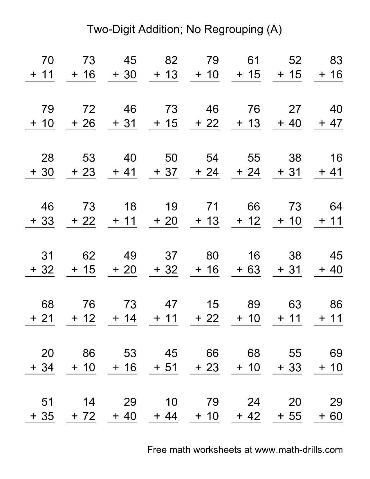 Worksheet Double Digit Addition Worksheets Worksheet Fun