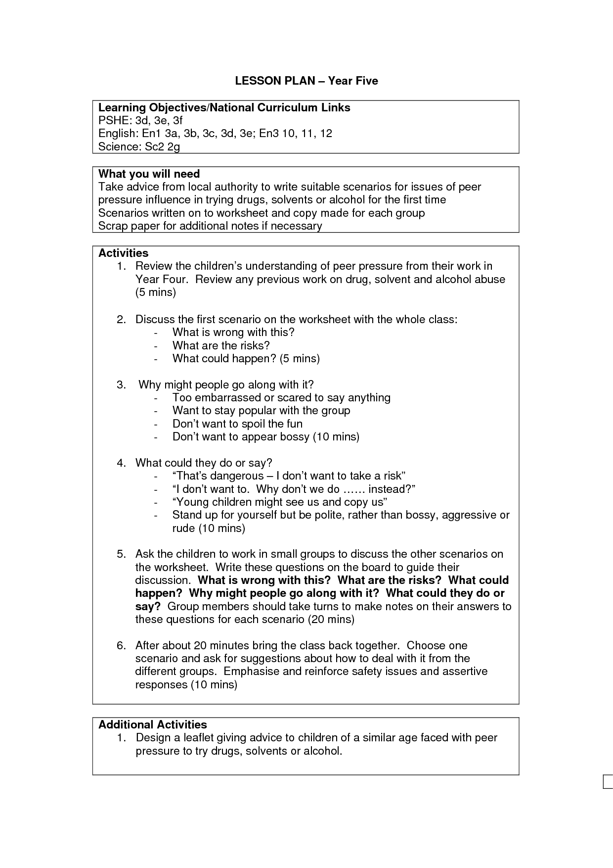 10 Best Images Of 5 Year Plan Worksheet