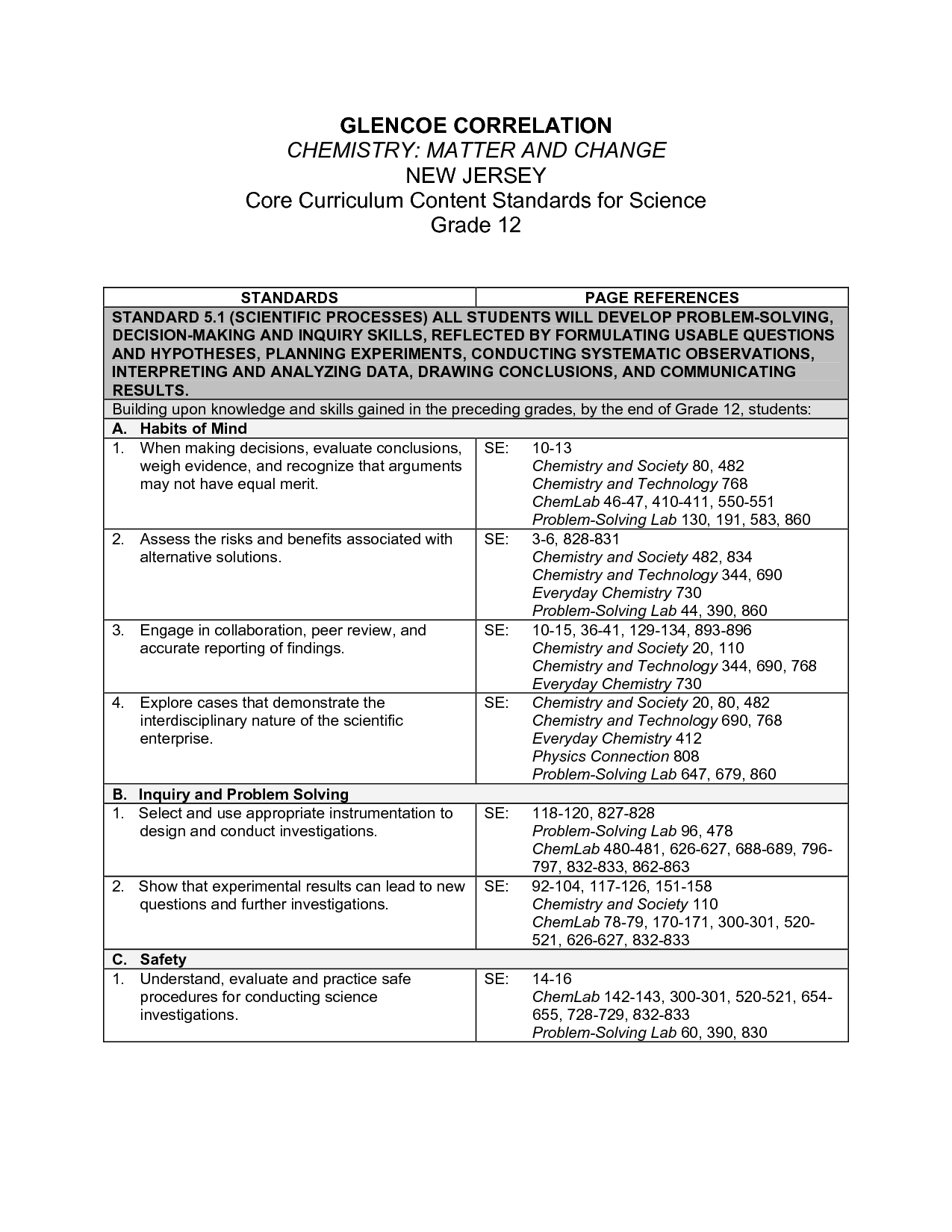 Glencoe Science Worksheets Glencoe Best Free Printable Worksheets