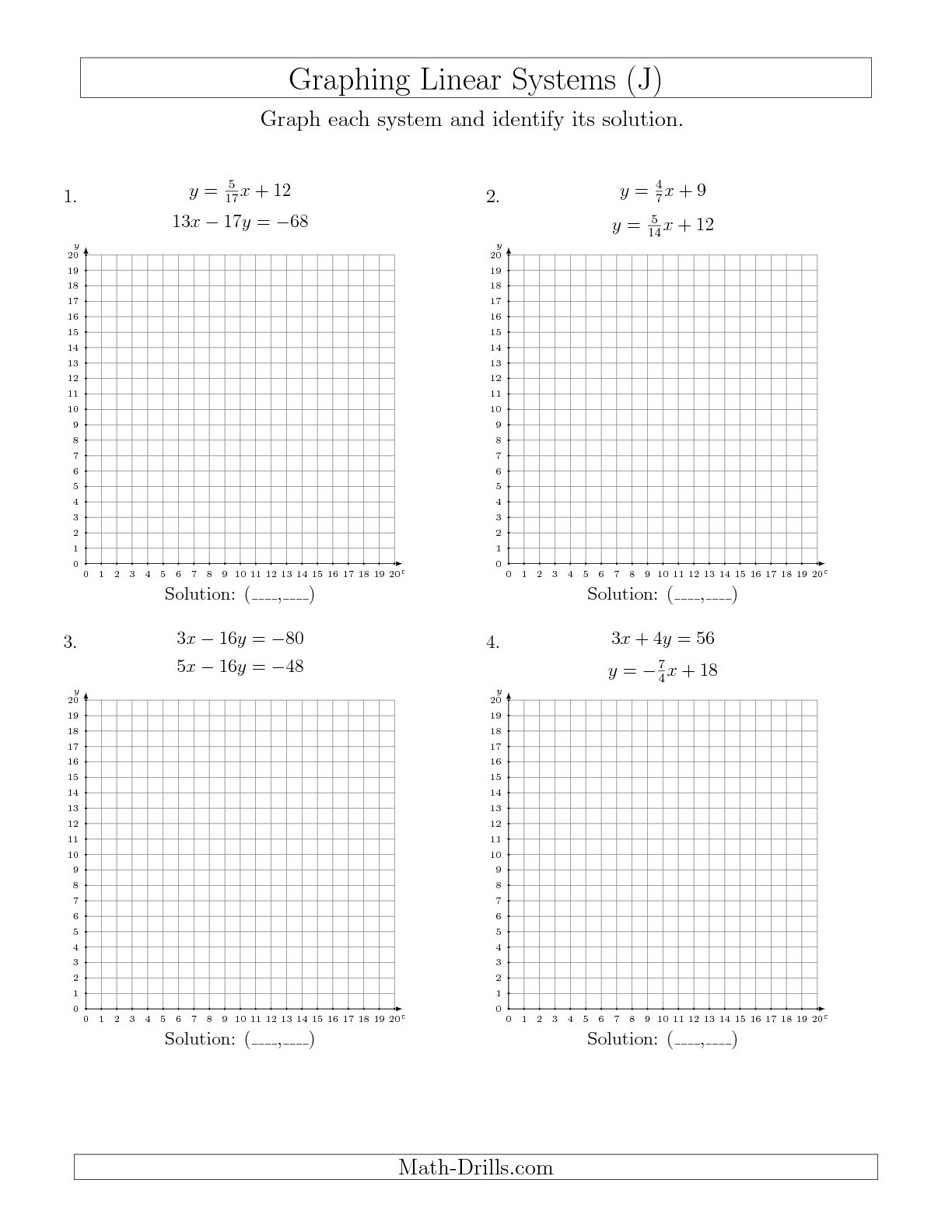 34 Graphing Linear Functions Worksheet