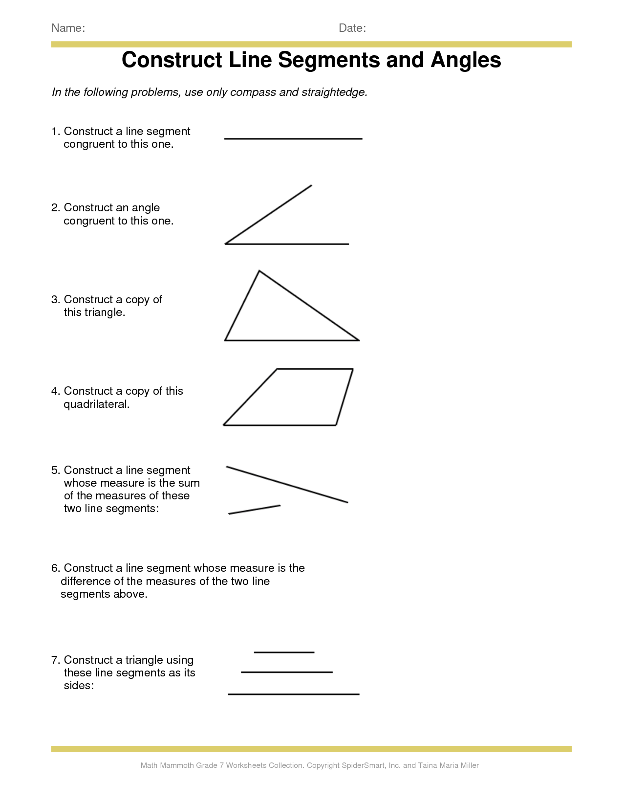 9 Best Images Of Worksheet Identifying Line Segments Rays