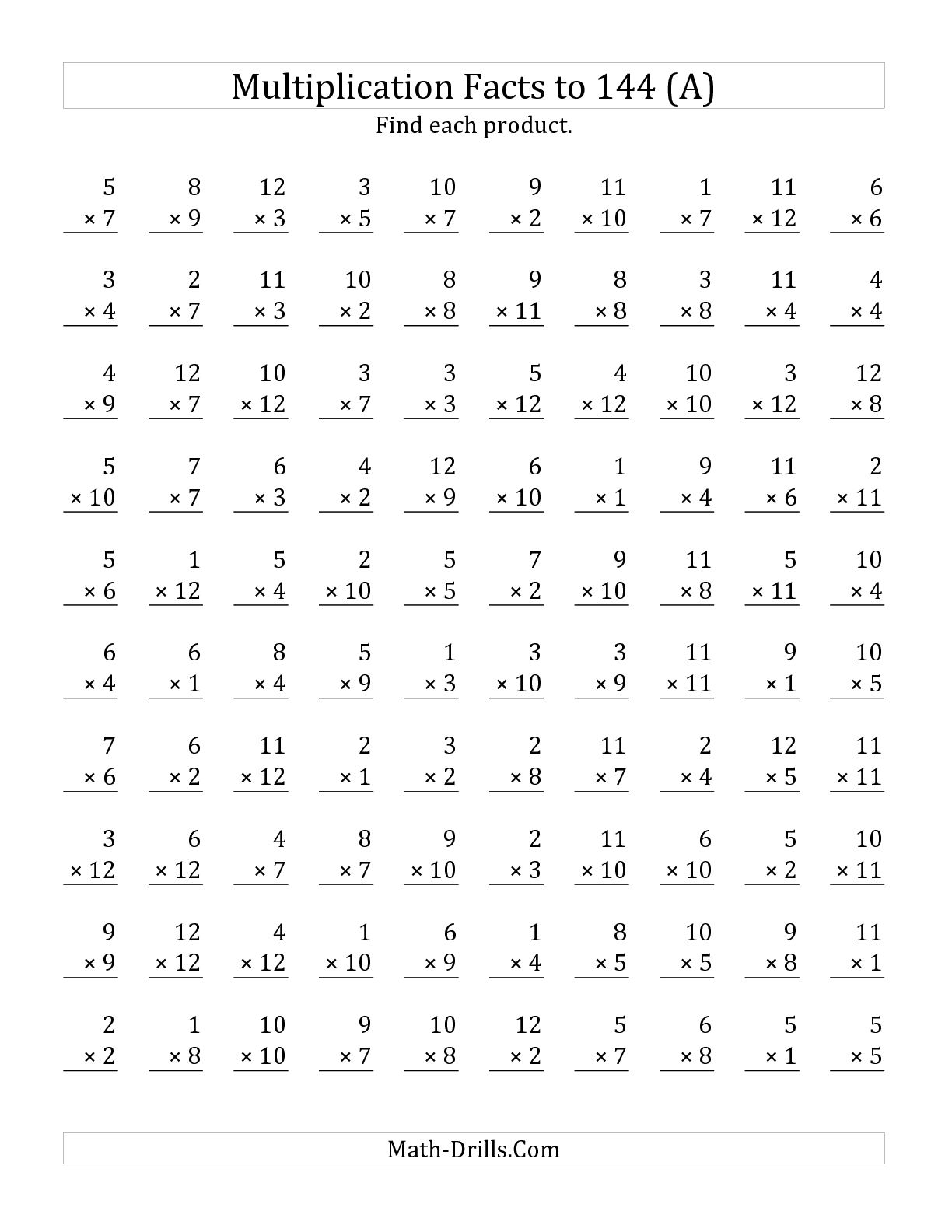 14 Best Images Of 100 Question Math Worksheets