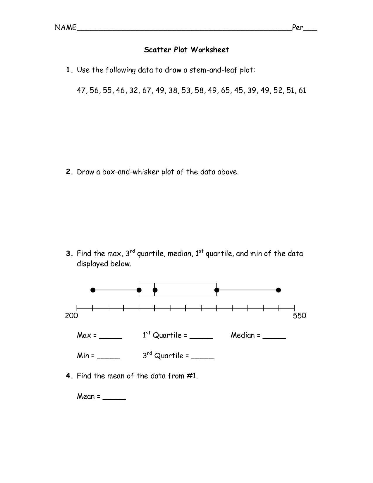 7 Best Images Of 3rd Grade Line Plot Worksheets
