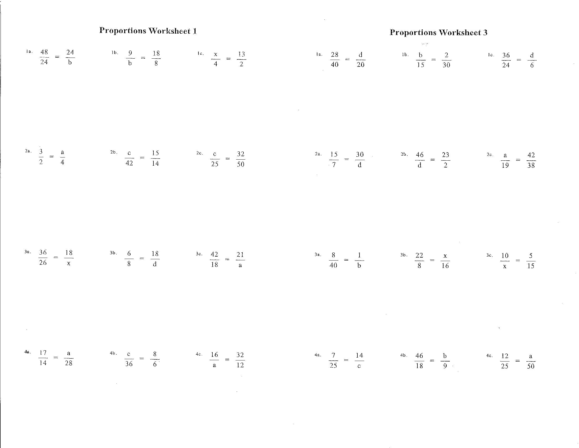 7th Grade Math Worksheet Ratios