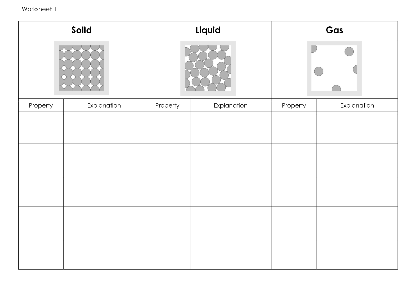 Matter Worksheet First Grade