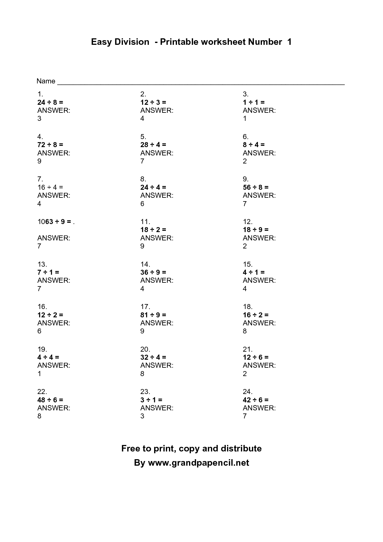 7 Best Images Of Copying Numbers Worksheets