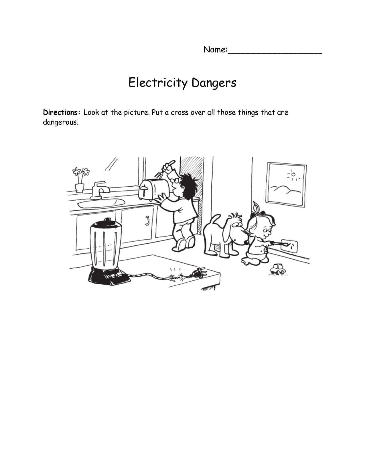 Home Safety Hazards Worksheets
