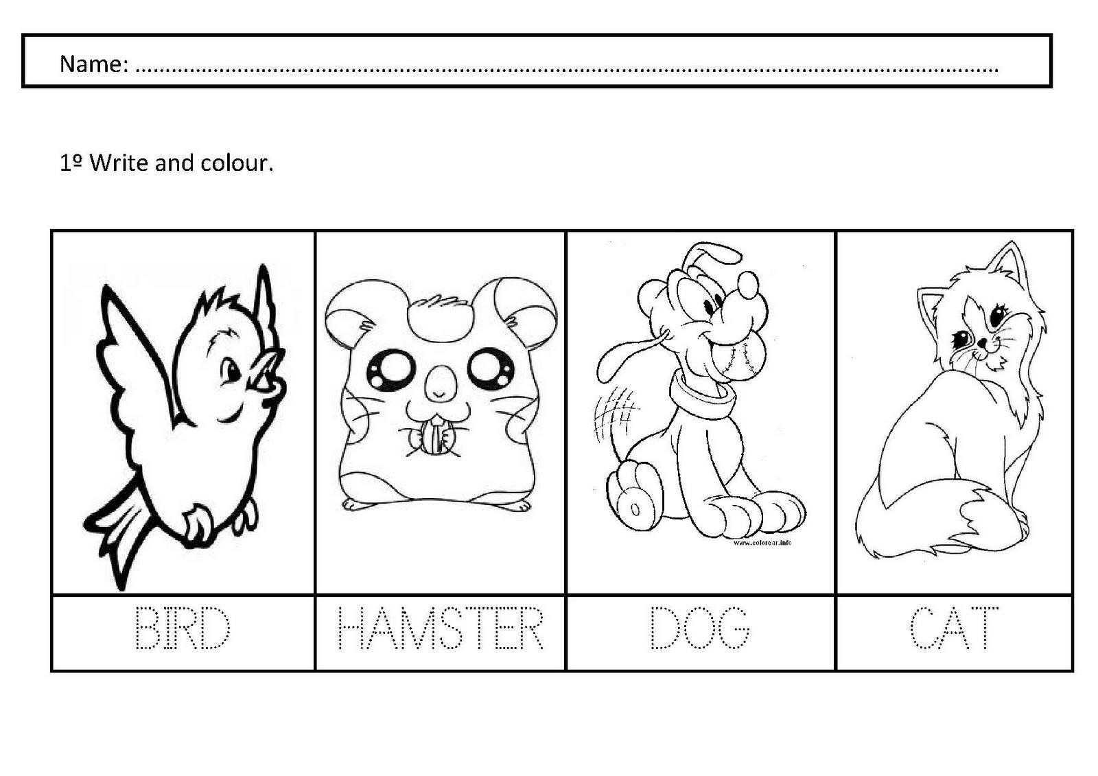 14 Best Images Of Pet Animals Worksheets For Kids