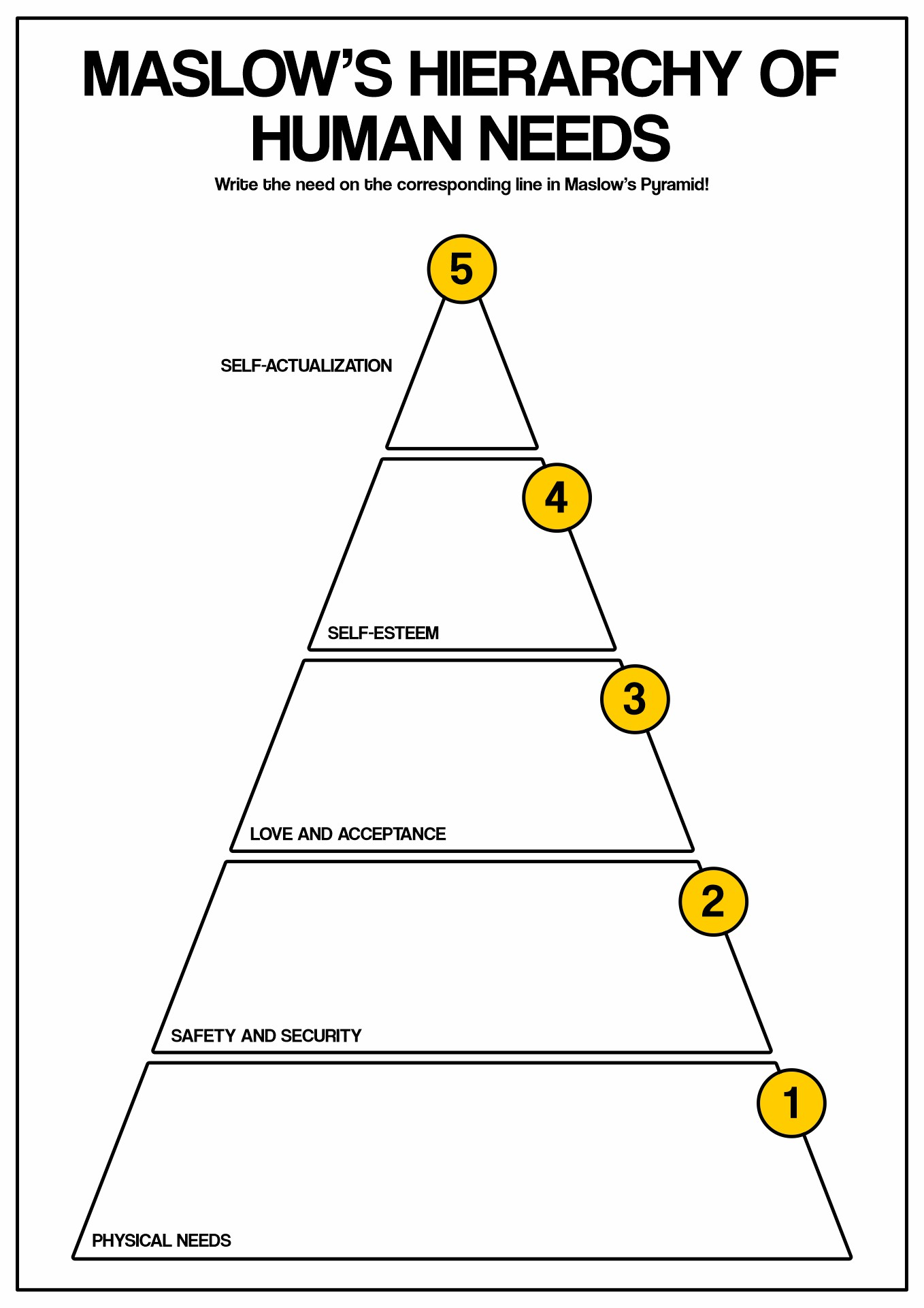 15 Best Images Of Worksheets Basic Human Needs