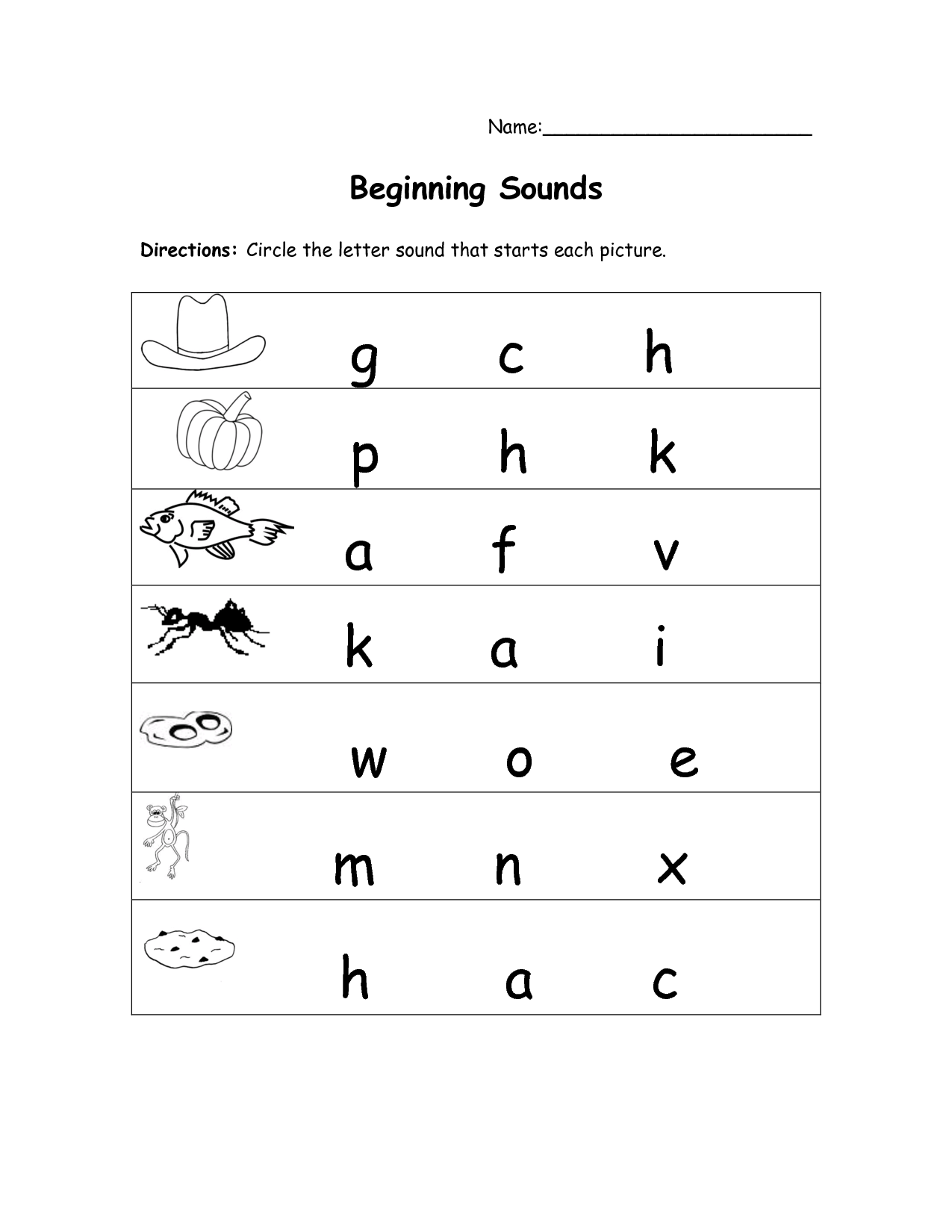 13 Best Images Of Beginning And Ending Sounds Printable