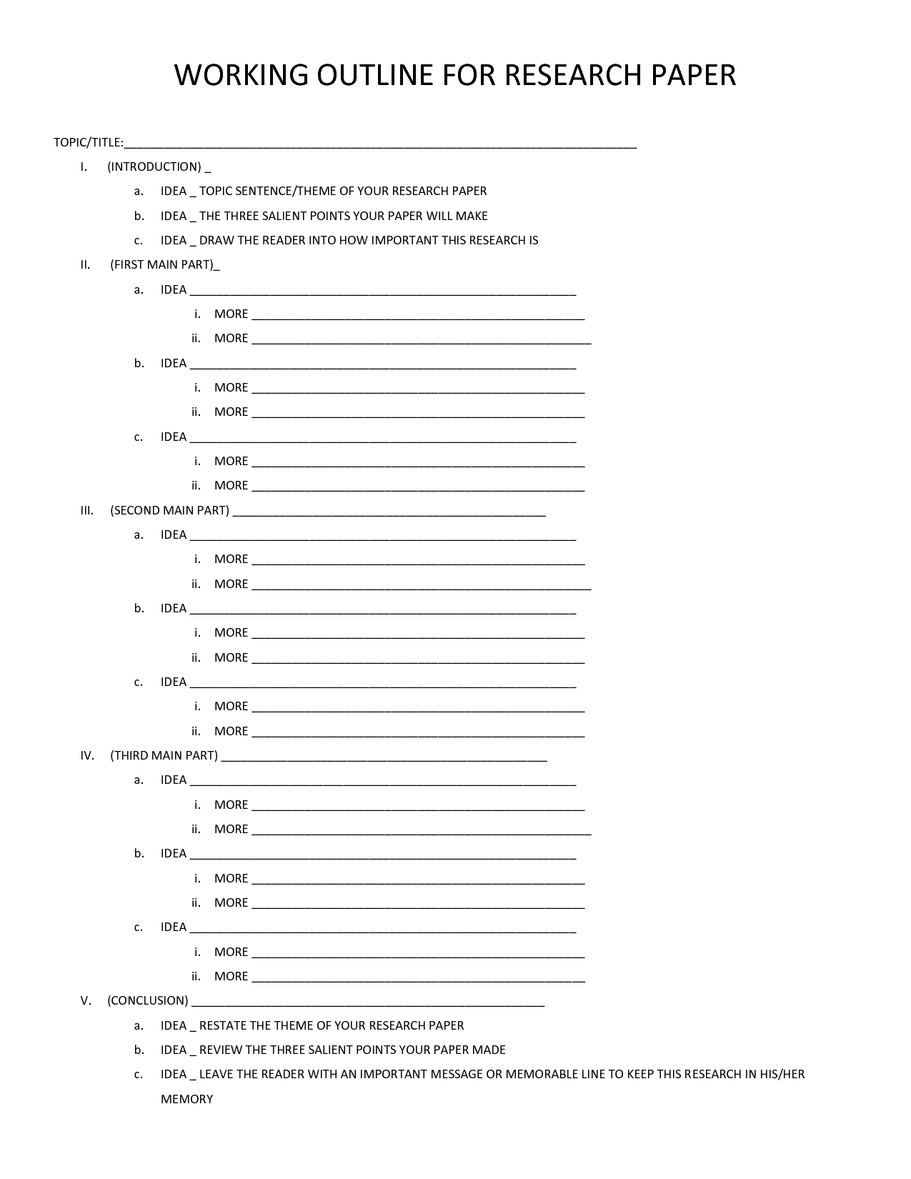 Category Worksheet Elementary