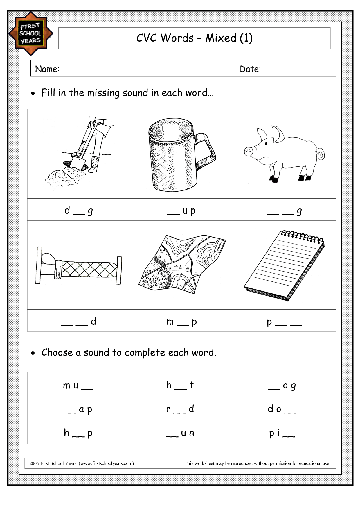 Word Worksheet Category Page 16